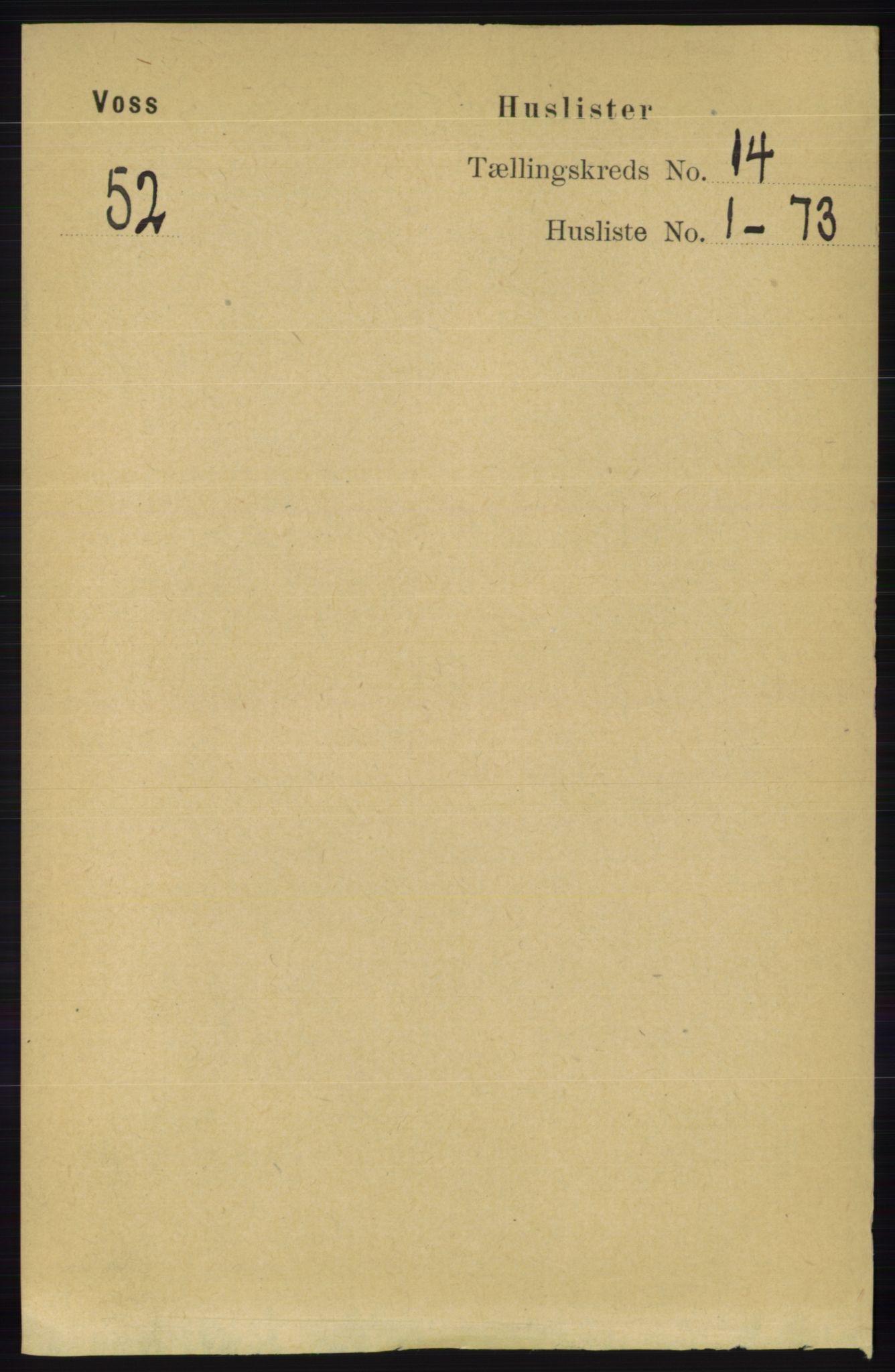 RA, Folketelling 1891 for 1235 Voss herred, 1891, s. 7182