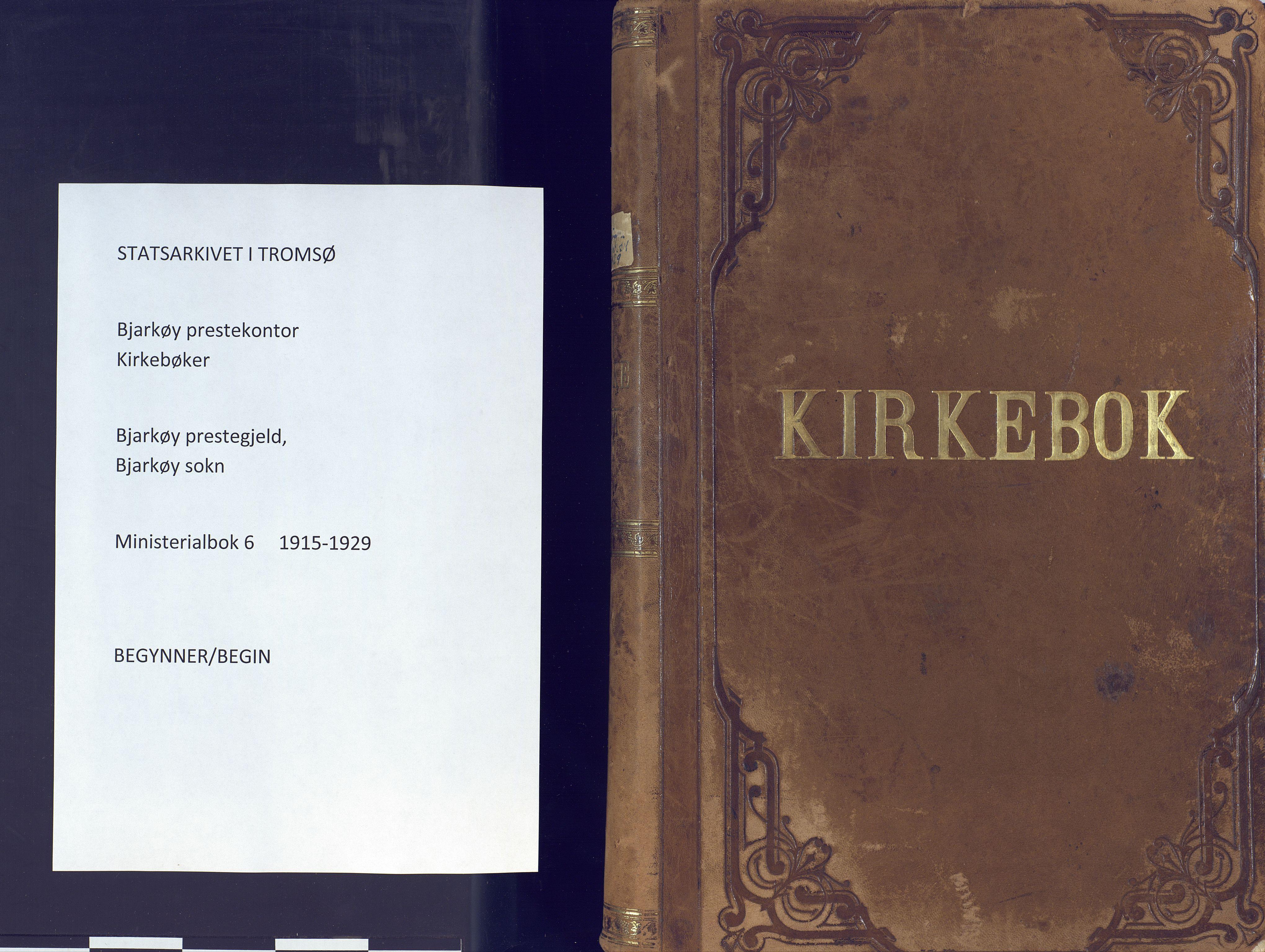 SATØ, Sand/Bjarkøy sokneprestkontor, I/Ia/Iaa/L0006kirke: Ministerialbok nr. 6, 1915-1929