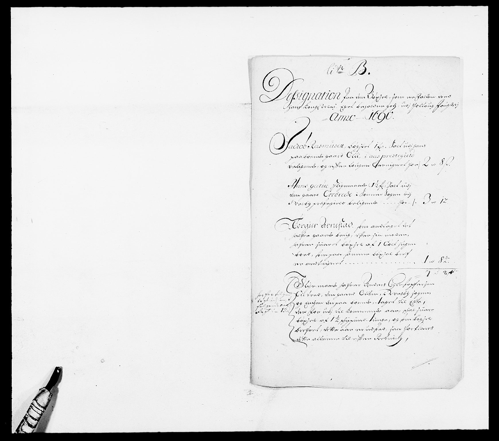RA, Rentekammeret inntil 1814, Reviderte regnskaper, Fogderegnskap, R09/L0435: Fogderegnskap Follo, 1689-1691, s. 215
