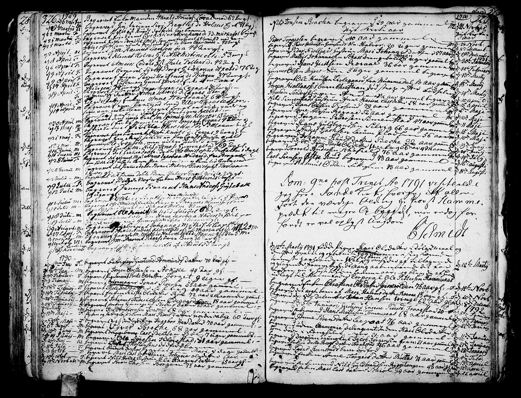 SAKO, Sande Kirkebøker, F/Fa/L0001: Ministerialbok nr. 1, 1753-1803, s. 326-327
