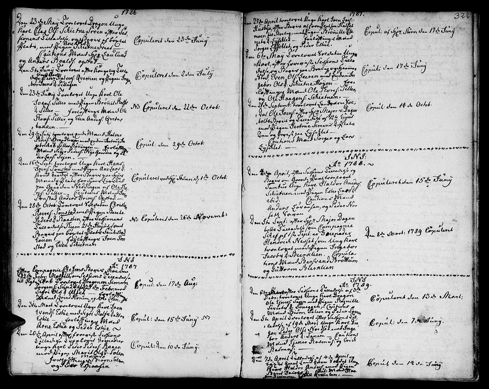 SAT, Ministerialprotokoller, klokkerbøker og fødselsregistre - Sør-Trøndelag, 618/L0438: Ministerialbok nr. 618A03, 1783-1815, s. 322