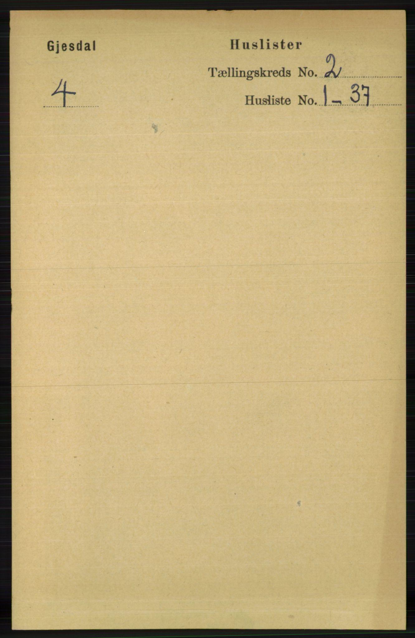 RA, Folketelling 1891 for 1122 Gjesdal herred, 1891, s. 343
