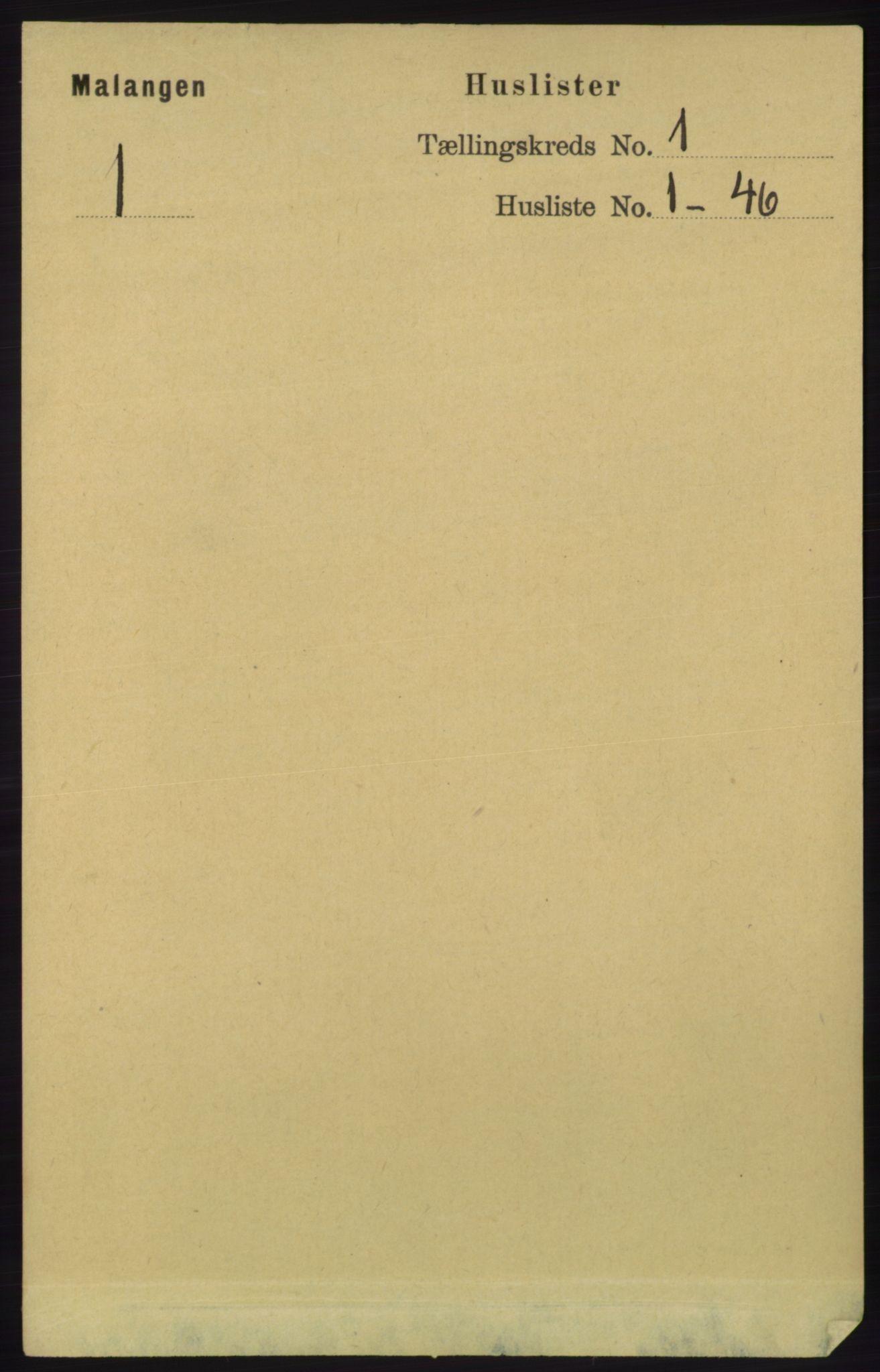 RA, Folketelling 1891 for 1932 Malangen herred, 1891, s. 15