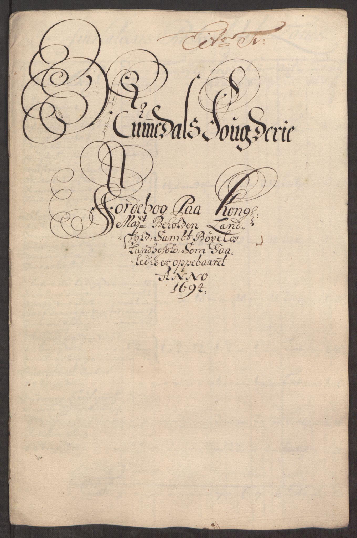 RA, Rentekammeret inntil 1814, Reviderte regnskaper, Fogderegnskap, R64/L4424: Fogderegnskap Namdal, 1692-1695, s. 370