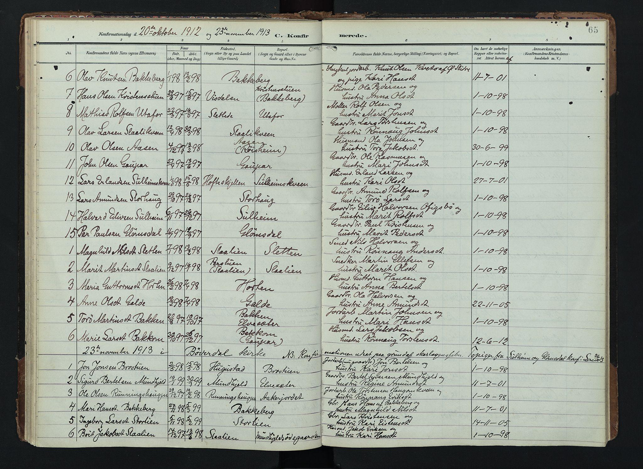 SAH, Lom prestekontor, K/L0012: Ministerialbok nr. 12, 1904-1928, s. 65