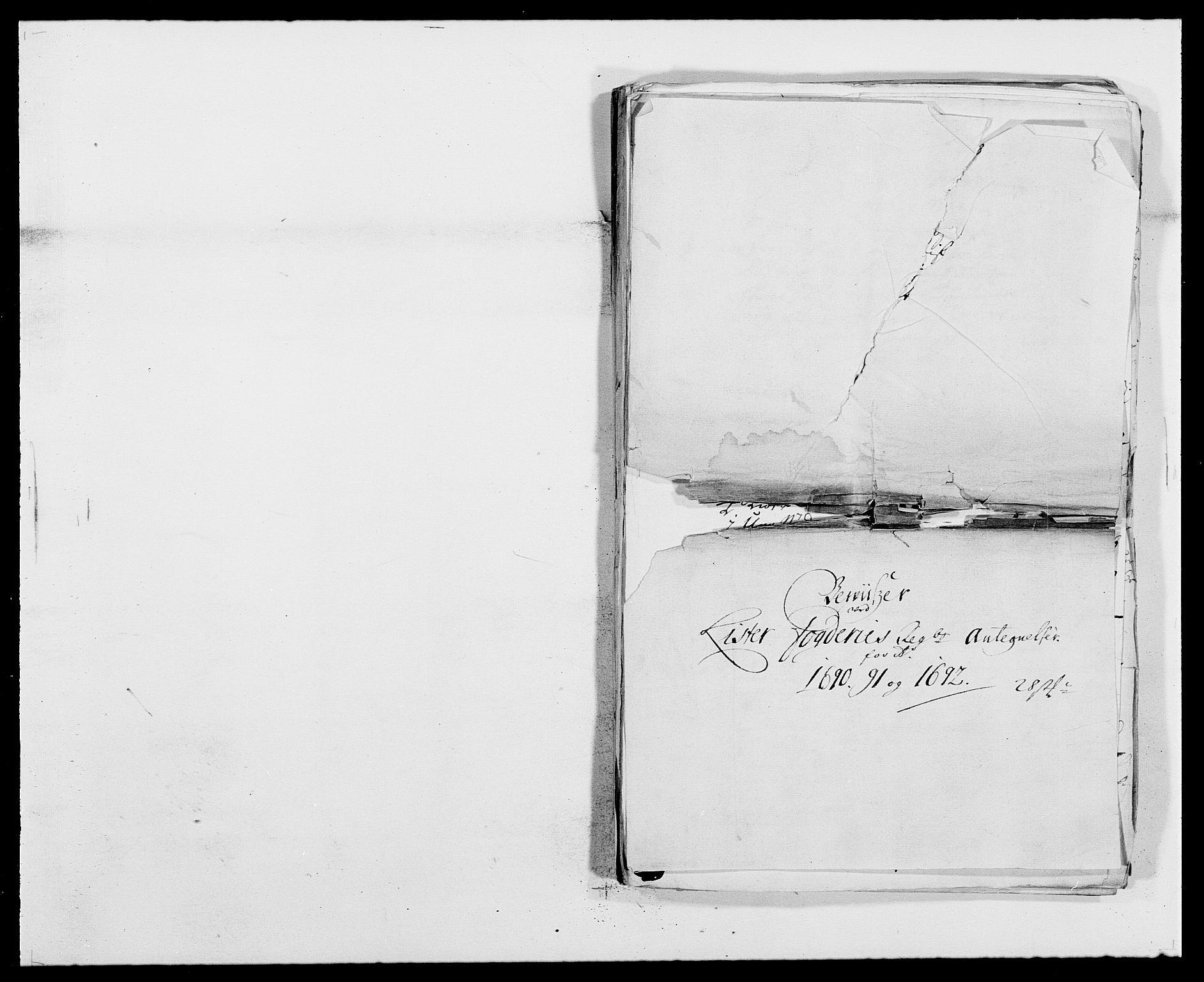RA, Rentekammeret inntil 1814, Reviderte regnskaper, Fogderegnskap, R41/L2536: Fogderegnskap Lista, 1690-1693, s. 345