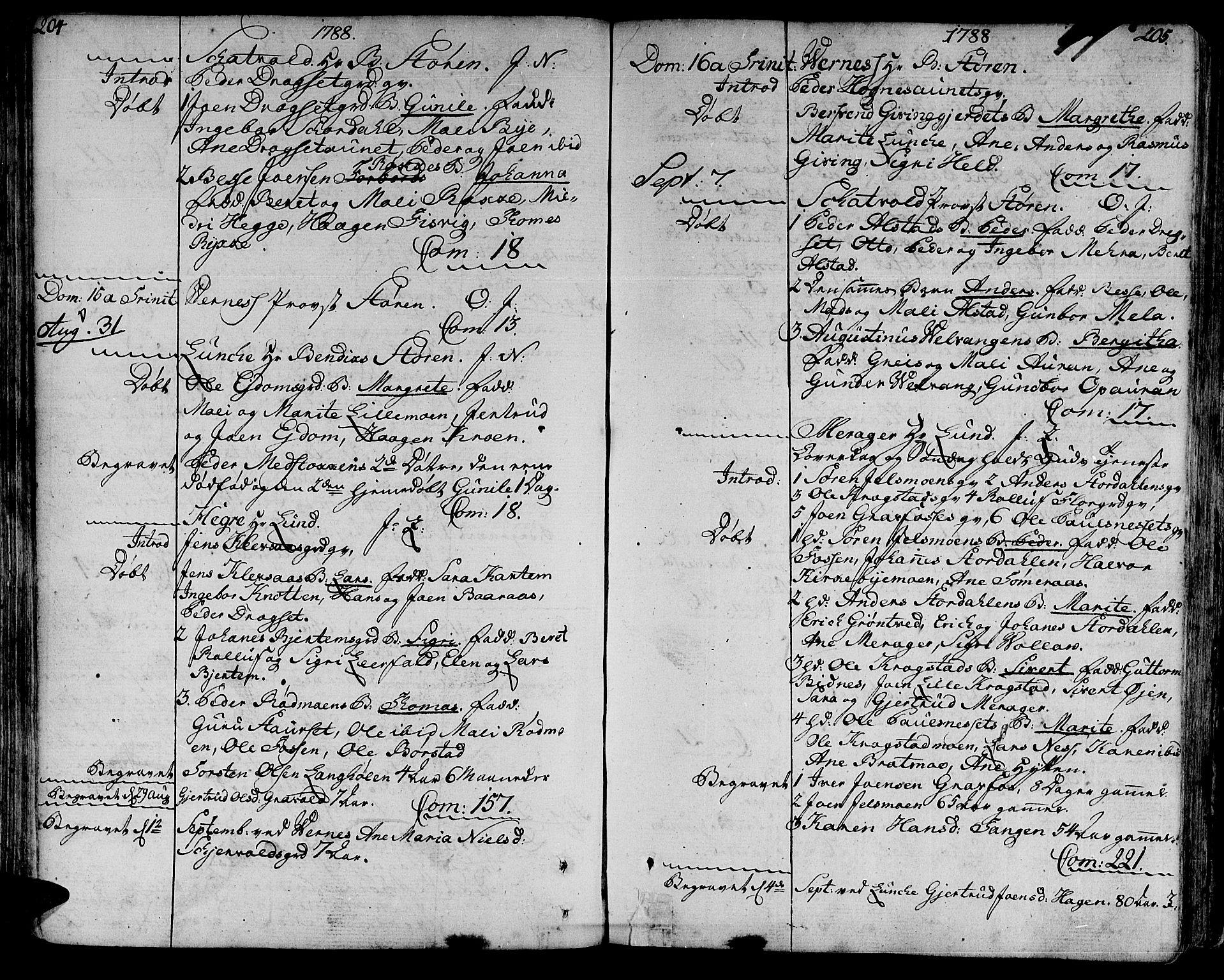 SAT, Ministerialprotokoller, klokkerbøker og fødselsregistre - Nord-Trøndelag, 709/L0059: Ministerialbok nr. 709A06, 1781-1797, s. 204-205