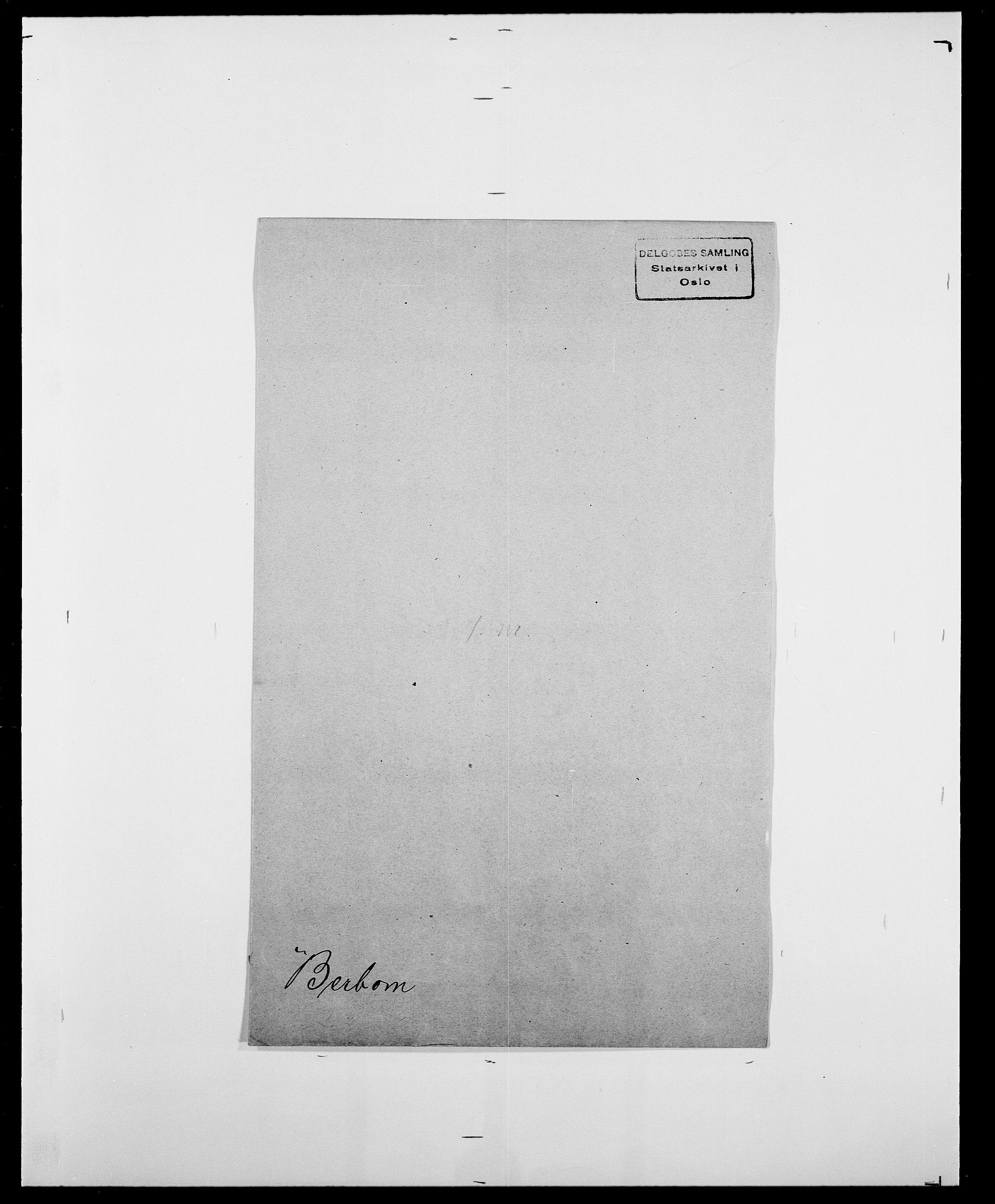 SAO, Delgobe, Charles Antoine - samling, D/Da/L0003: Barca - Bergen, s. 855