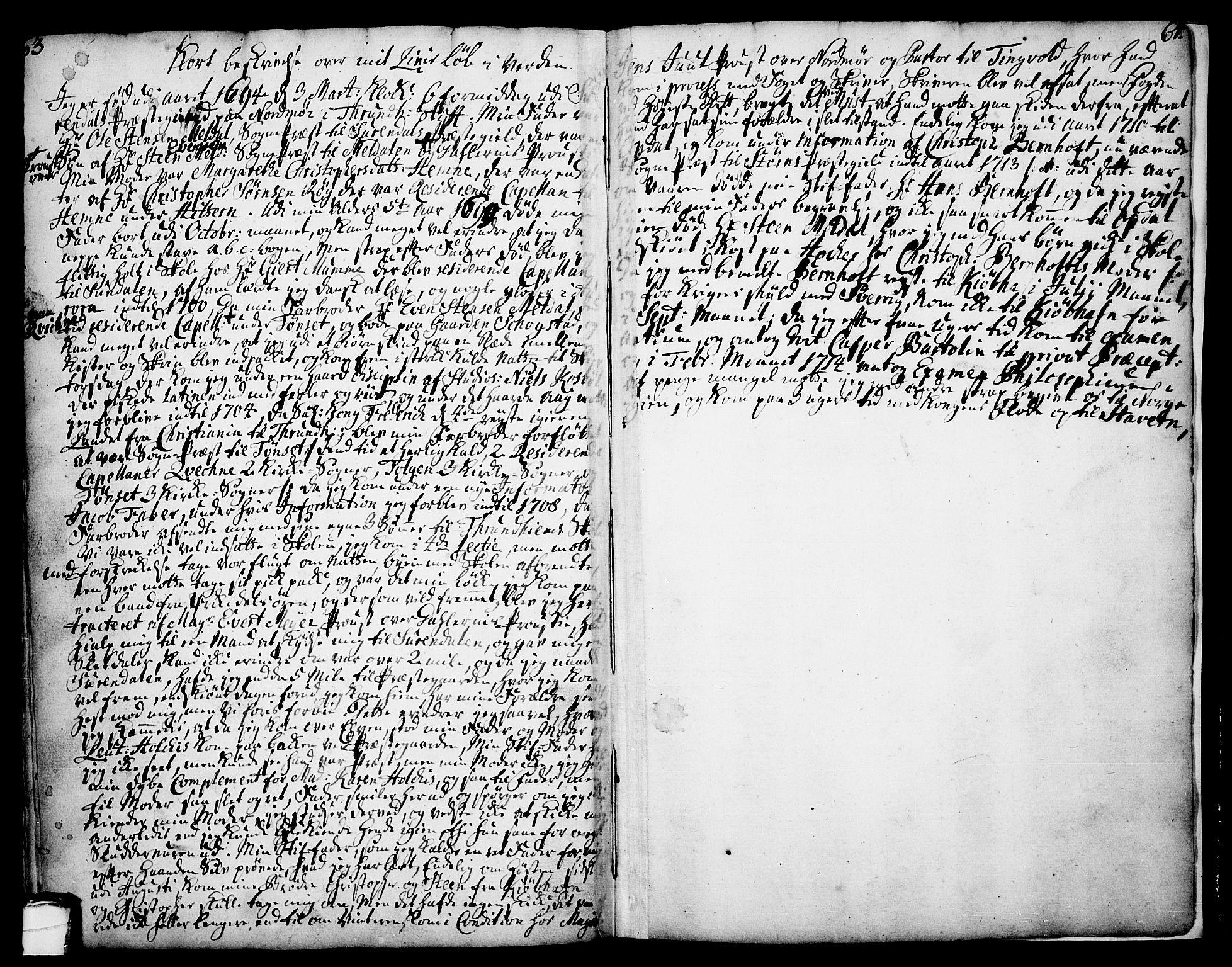 SAKO, Drangedal kirkebøker, F/Fa/L0002: Ministerialbok nr. 2, 1733-1753, s. 63-64