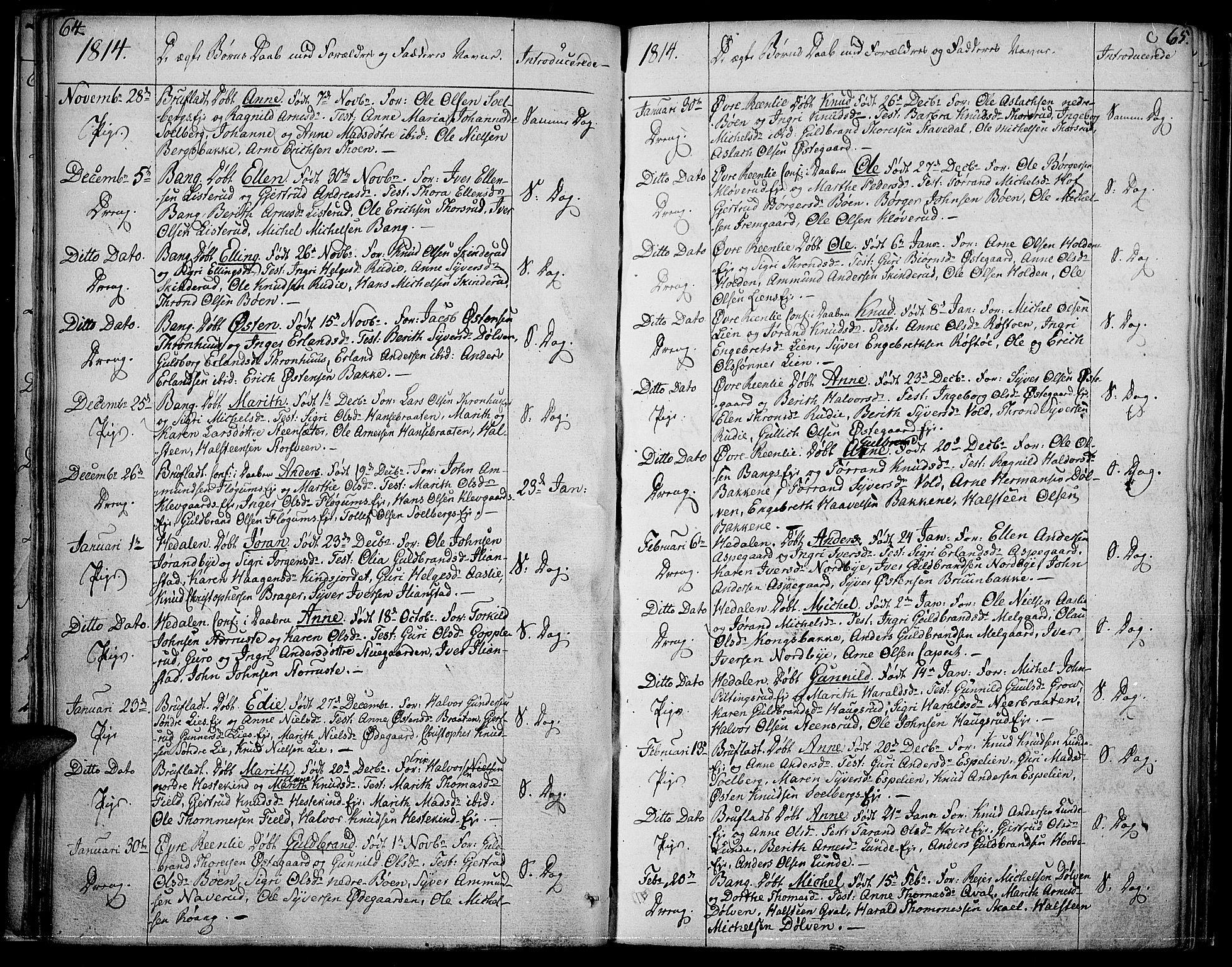 SAH, Sør-Aurdal prestekontor, Ministerialbok nr. 1, 1807-1815, s. 64-65