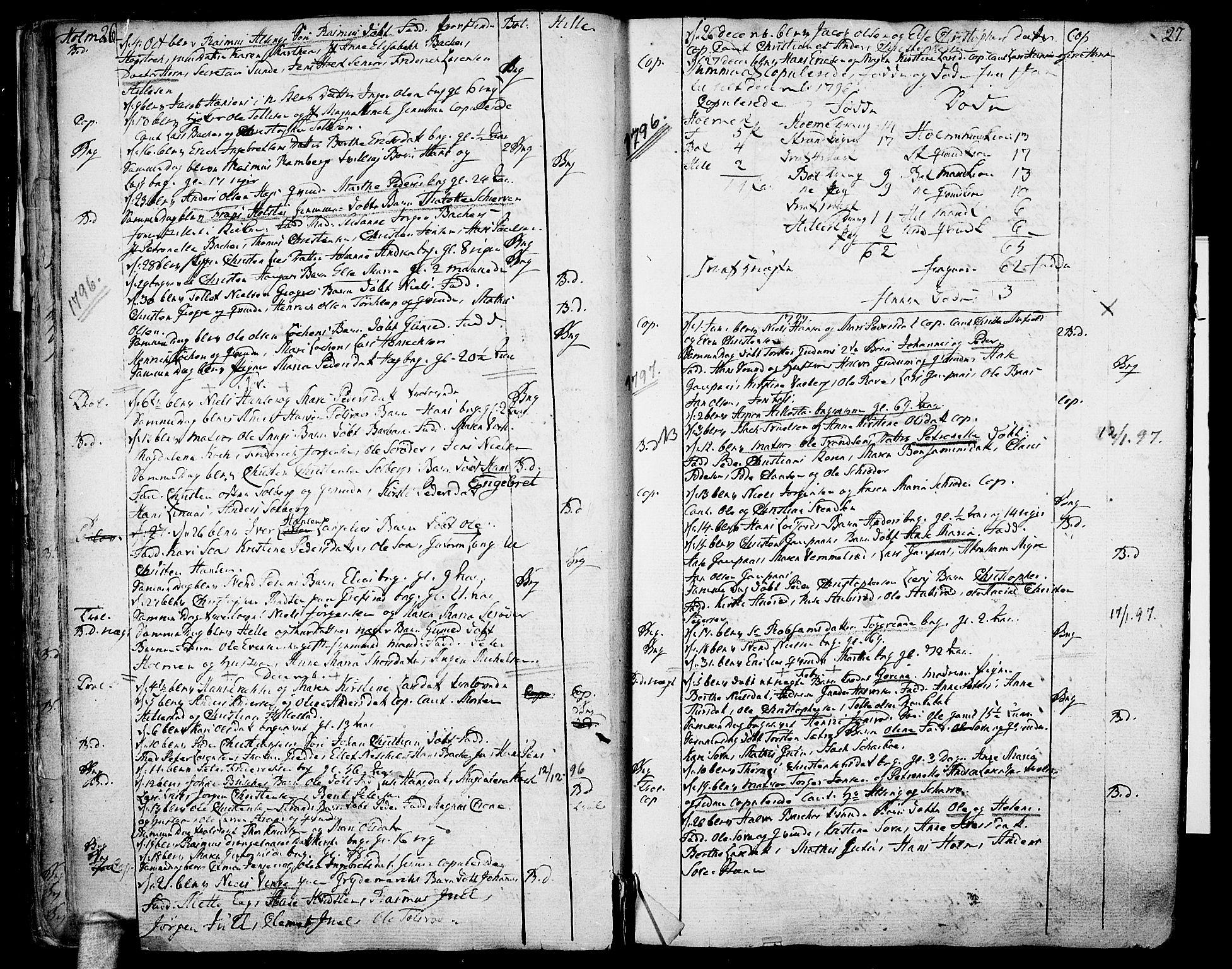 SAKO, Botne kirkebøker, F/Fa/L0003: Ministerialbok nr. I 3 /1, 1792-1844, s. 26-27