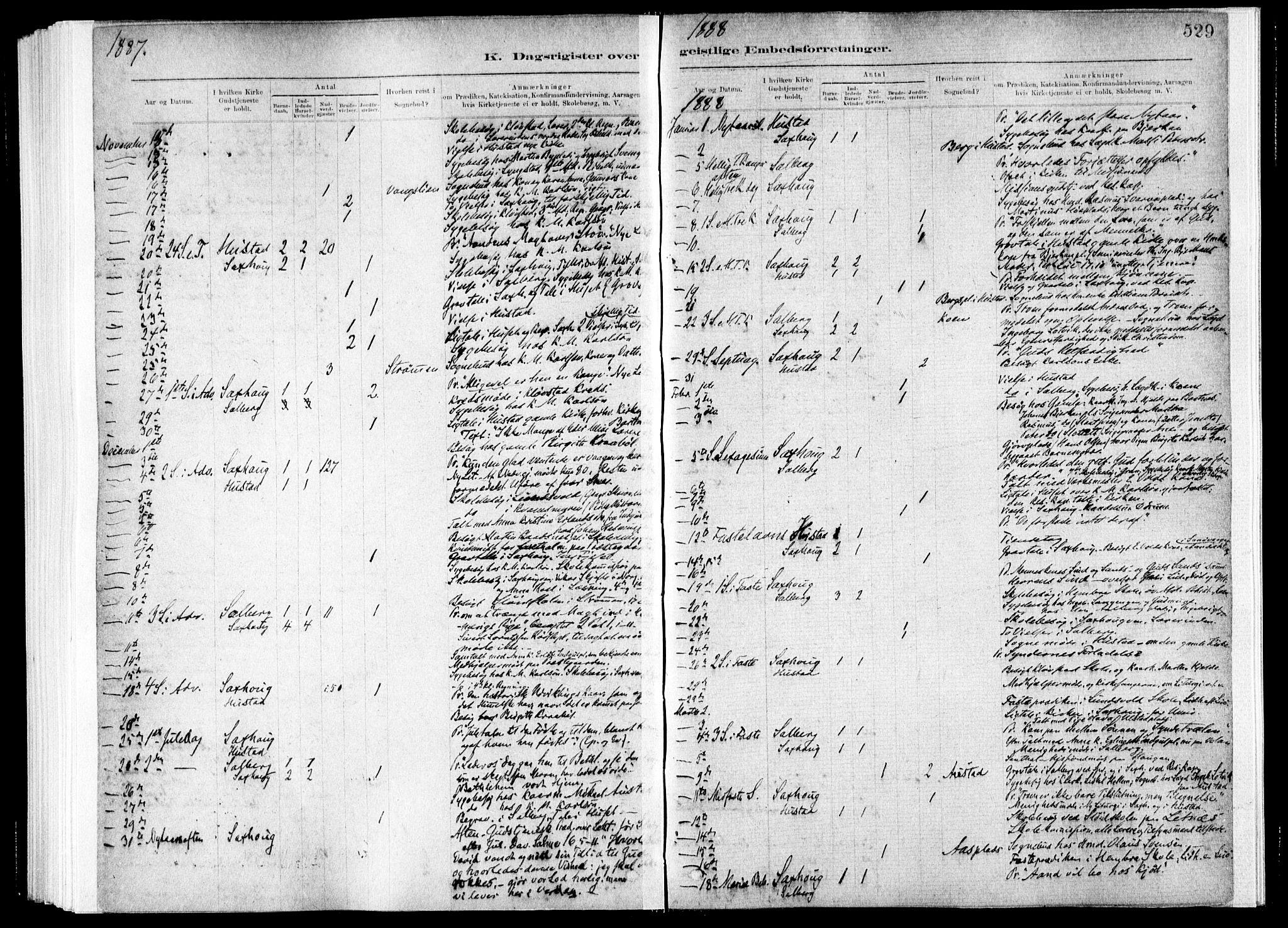 SAT, Ministerialprotokoller, klokkerbøker og fødselsregistre - Nord-Trøndelag, 730/L0285: Ministerialbok nr. 730A10, 1879-1914, s. 529