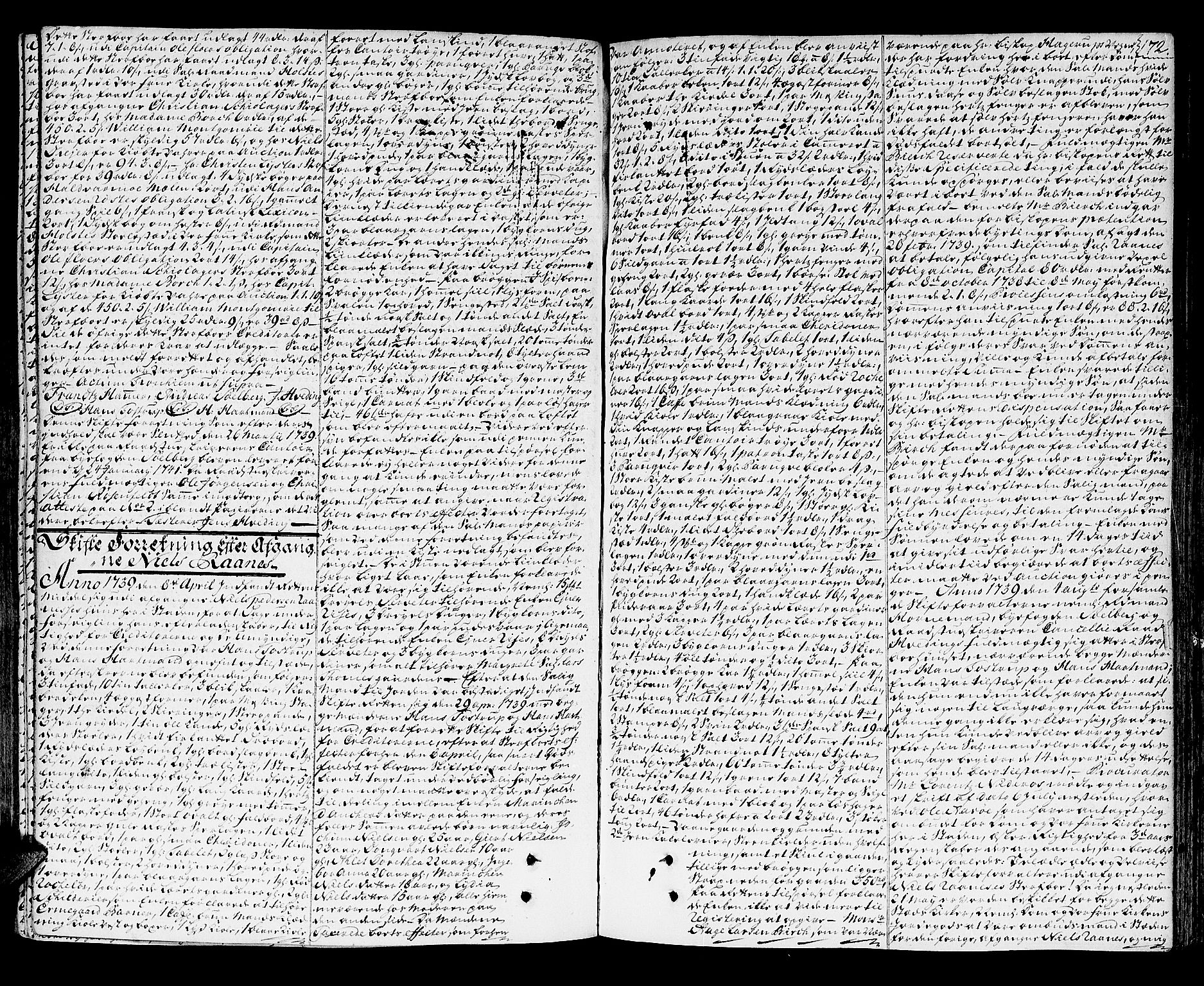 SAT, Trondheim byfogd, 3/3A/L0014: Skifteprotokoll - gml.nr.13a. (m/ register), 1737-1742, s. 171b-172a