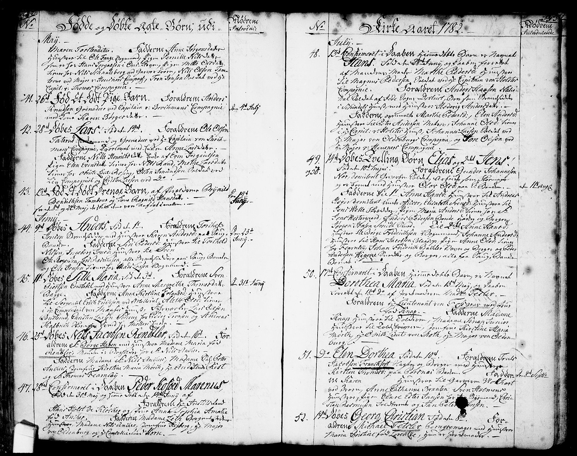 SAO, Halden prestekontor Kirkebøker, F/Fa/L0001: Ministerialbok nr. I 1, 1758-1791, s. 342-343