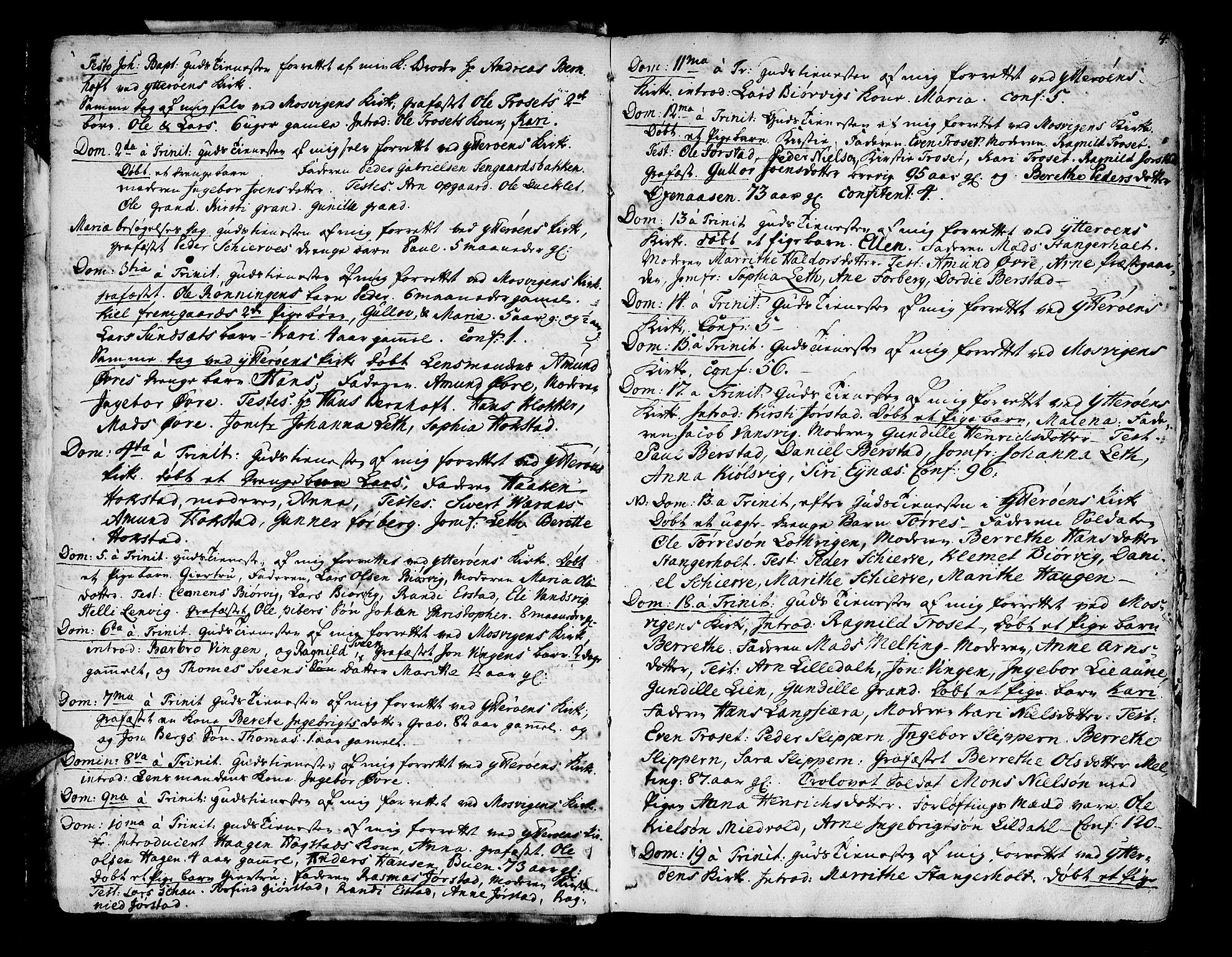 SAT, Ministerialprotokoller, klokkerbøker og fødselsregistre - Nord-Trøndelag, 722/L0216: Ministerialbok nr. 722A03, 1756-1816, s. 4