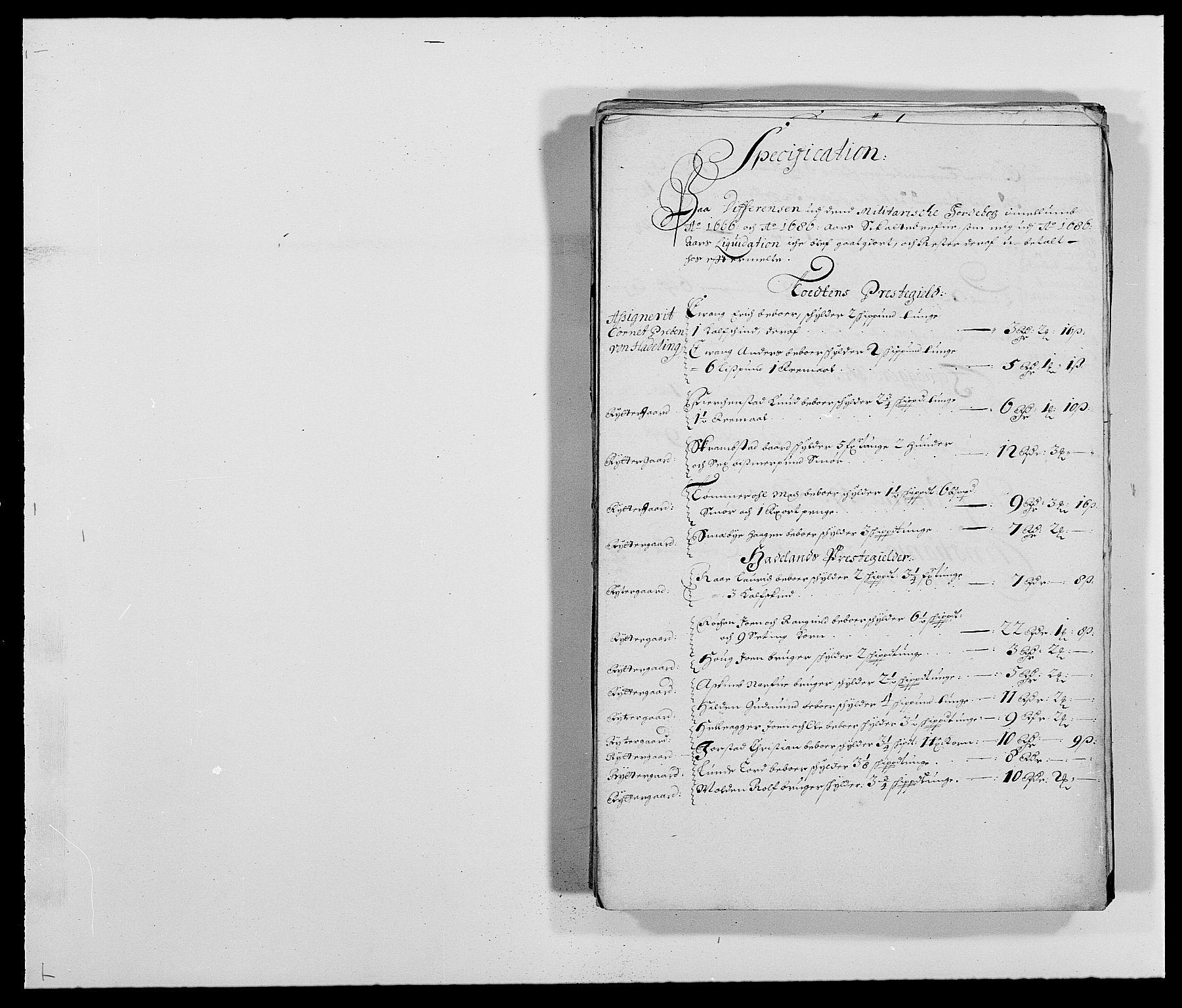 RA, Rentekammeret inntil 1814, Reviderte regnskaper, Fogderegnskap, R18/L1286: Fogderegnskap Hadeland, Toten og Valdres, 1687, s. 248