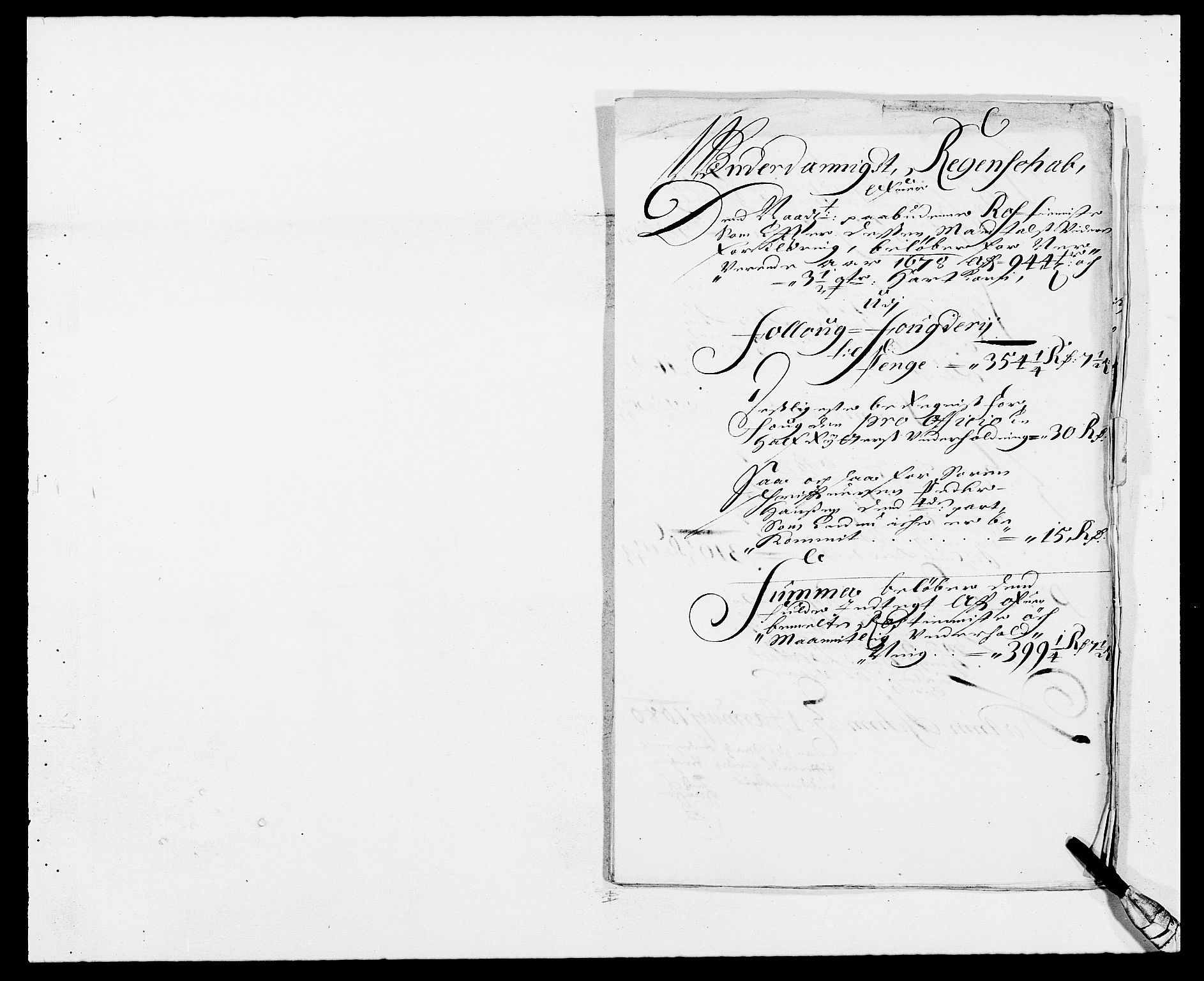 RA, Rentekammeret inntil 1814, Reviderte regnskaper, Fogderegnskap, R09/L0427: Fogderegnskap Follo, 1678, s. 247