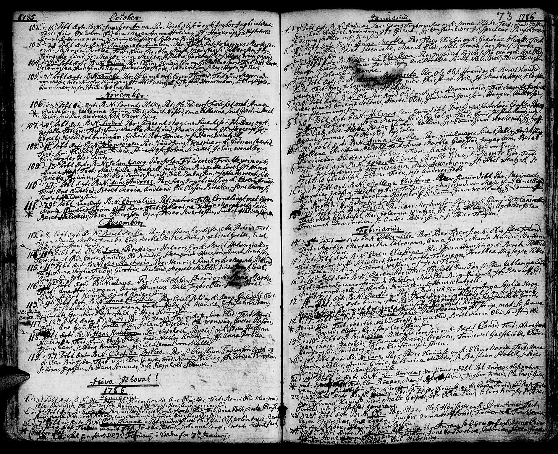 SAT, Ministerialprotokoller, klokkerbøker og fødselsregistre - Sør-Trøndelag, 601/L0039: Ministerialbok nr. 601A07, 1770-1819, s. 73