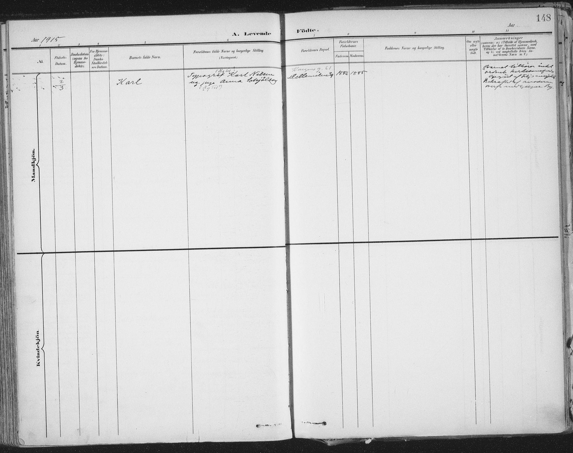 SAT, Ministerialprotokoller, klokkerbøker og fødselsregistre - Sør-Trøndelag, 603/L0167: Ministerialbok nr. 603A06, 1896-1932, s. 148