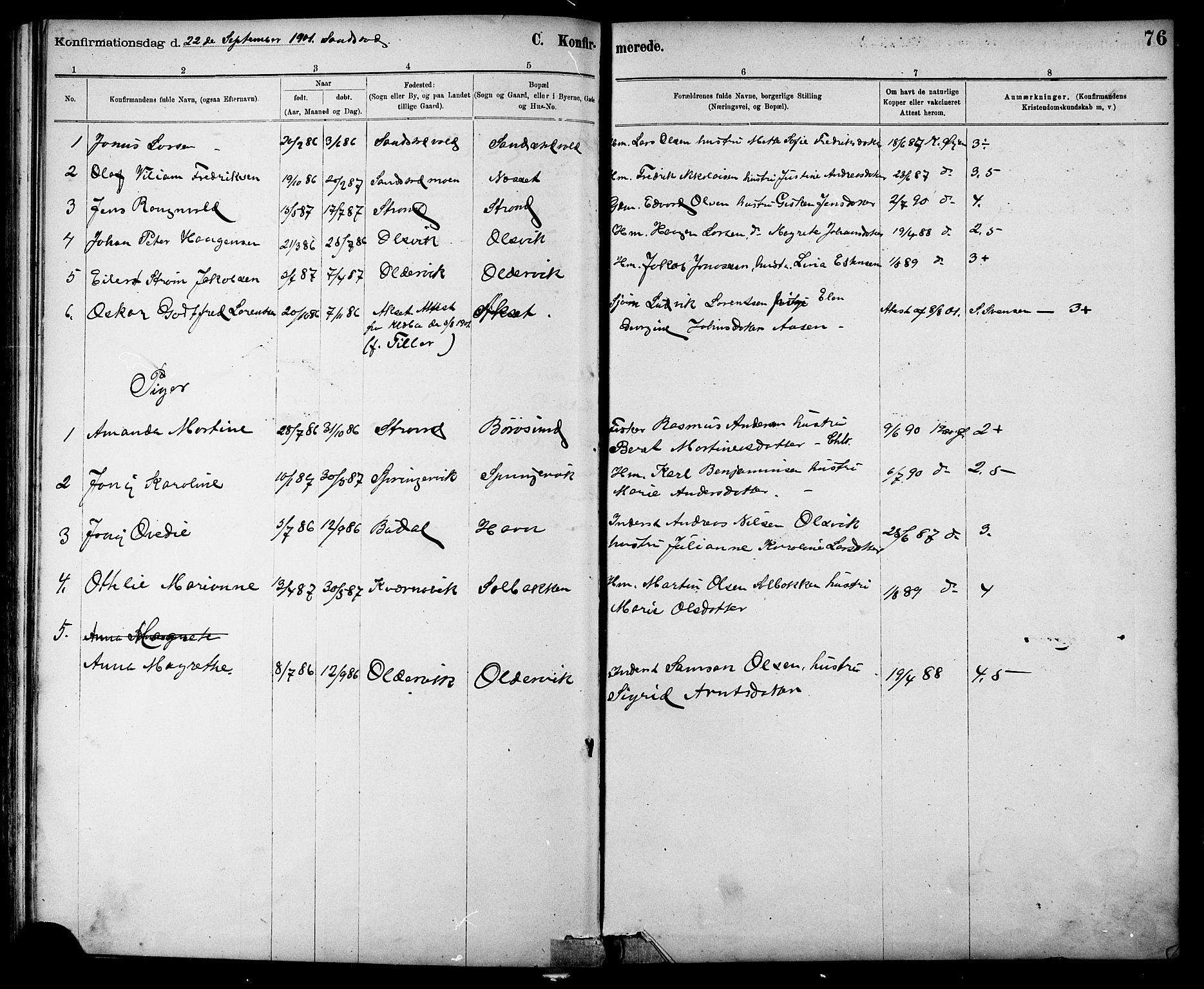 SAT, Ministerialprotokoller, klokkerbøker og fødselsregistre - Sør-Trøndelag, 639/L0573: Klokkerbok nr. 639C01, 1890-1905, s. 76