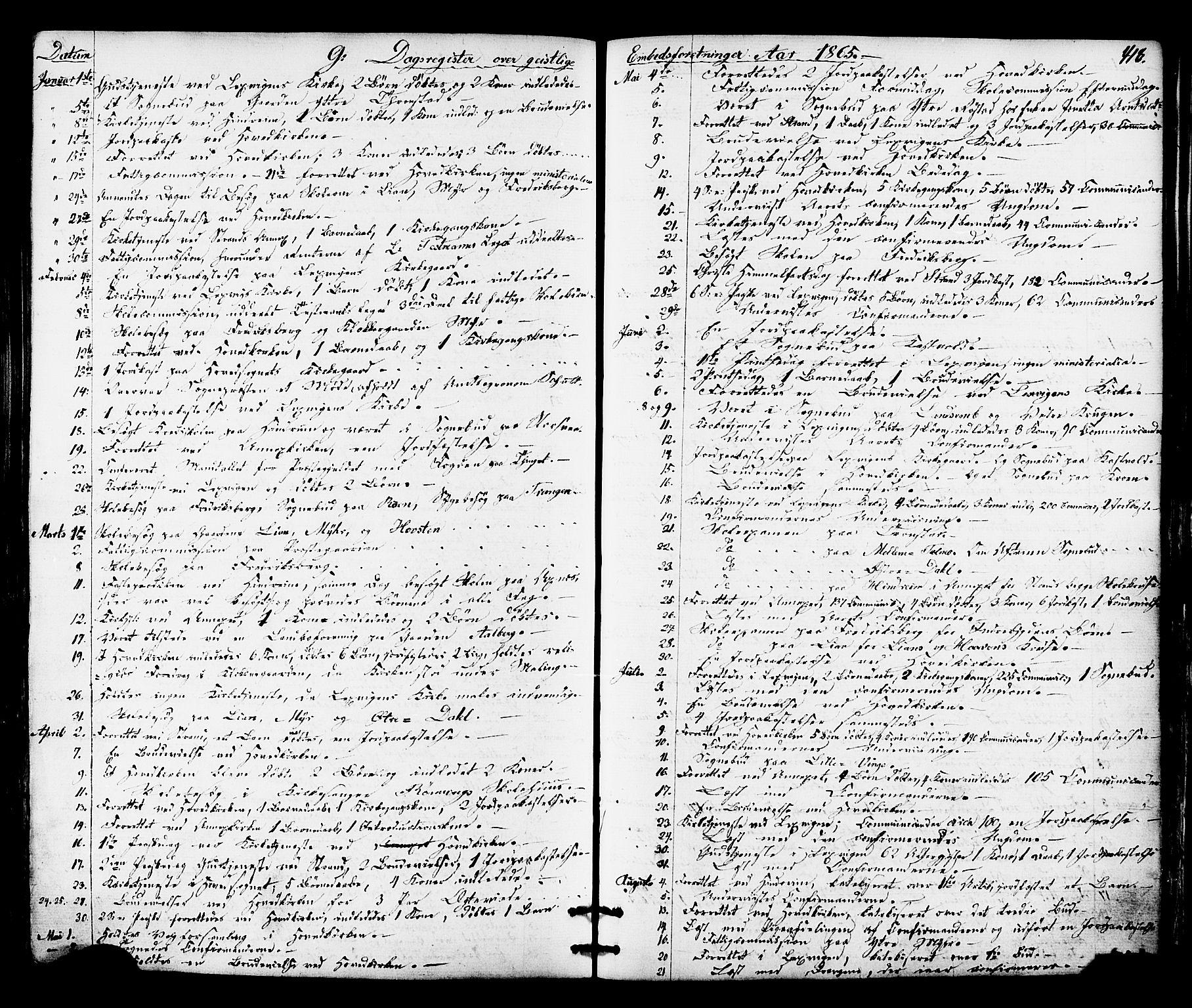SAT, Ministerialprotokoller, klokkerbøker og fødselsregistre - Nord-Trøndelag, 701/L0009: Ministerialbok nr. 701A09 /1, 1864-1882, s. 418