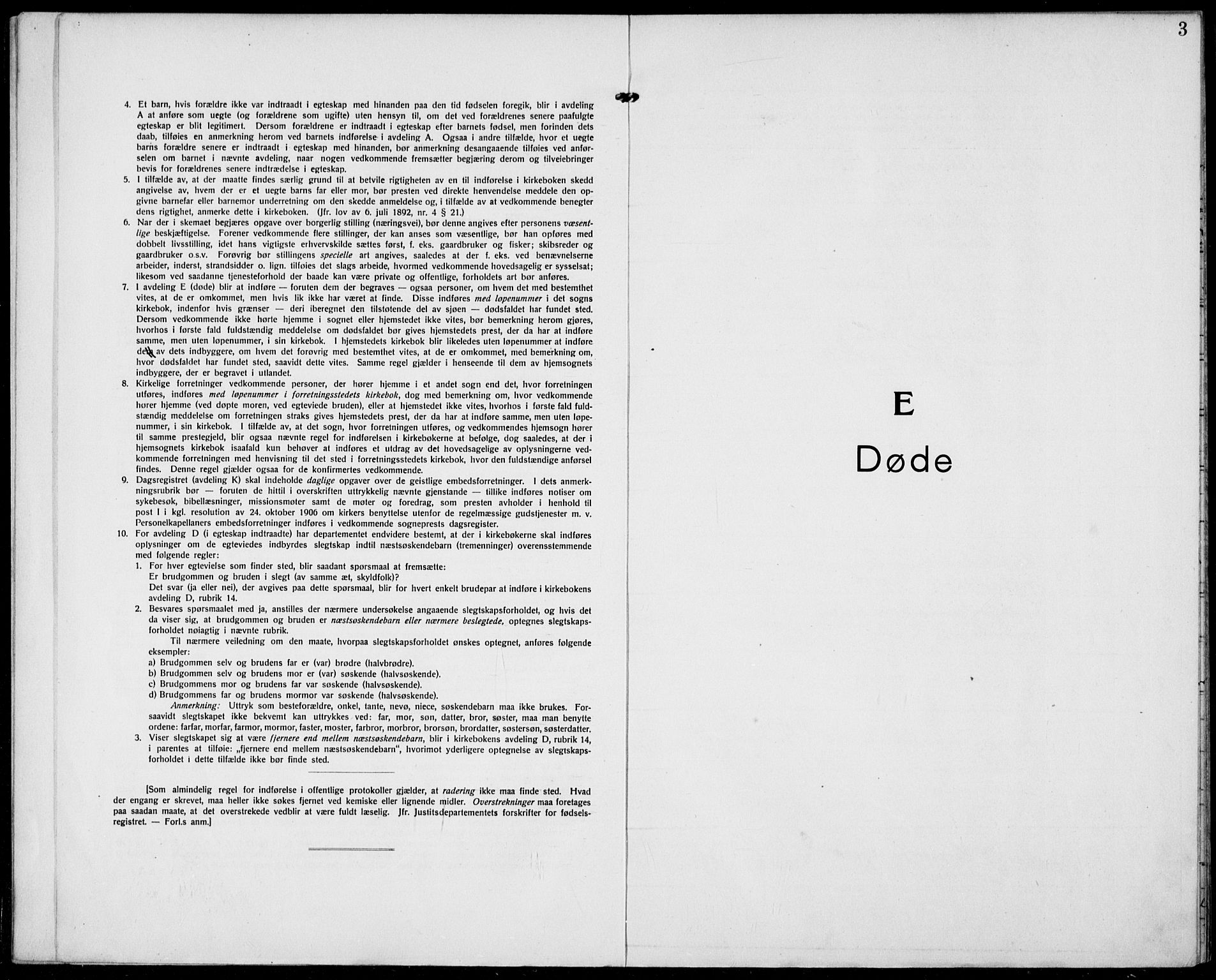 SAKO, Hjartdal kirkebøker, F/Fa/L0012: Ministerialbok nr. I 12, 1923-1930, s. 3