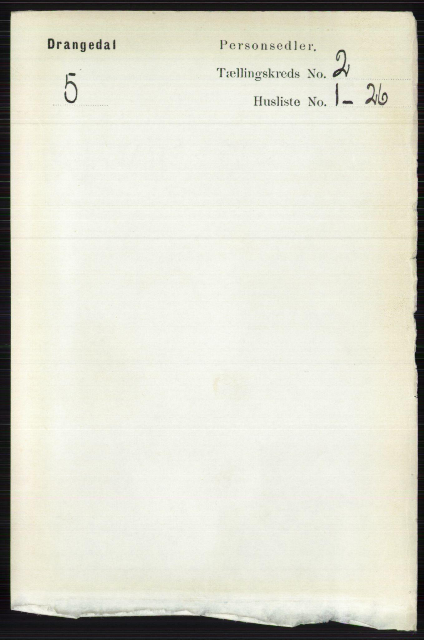 RA, Folketelling 1891 for 0817 Drangedal herred, 1891, s. 474