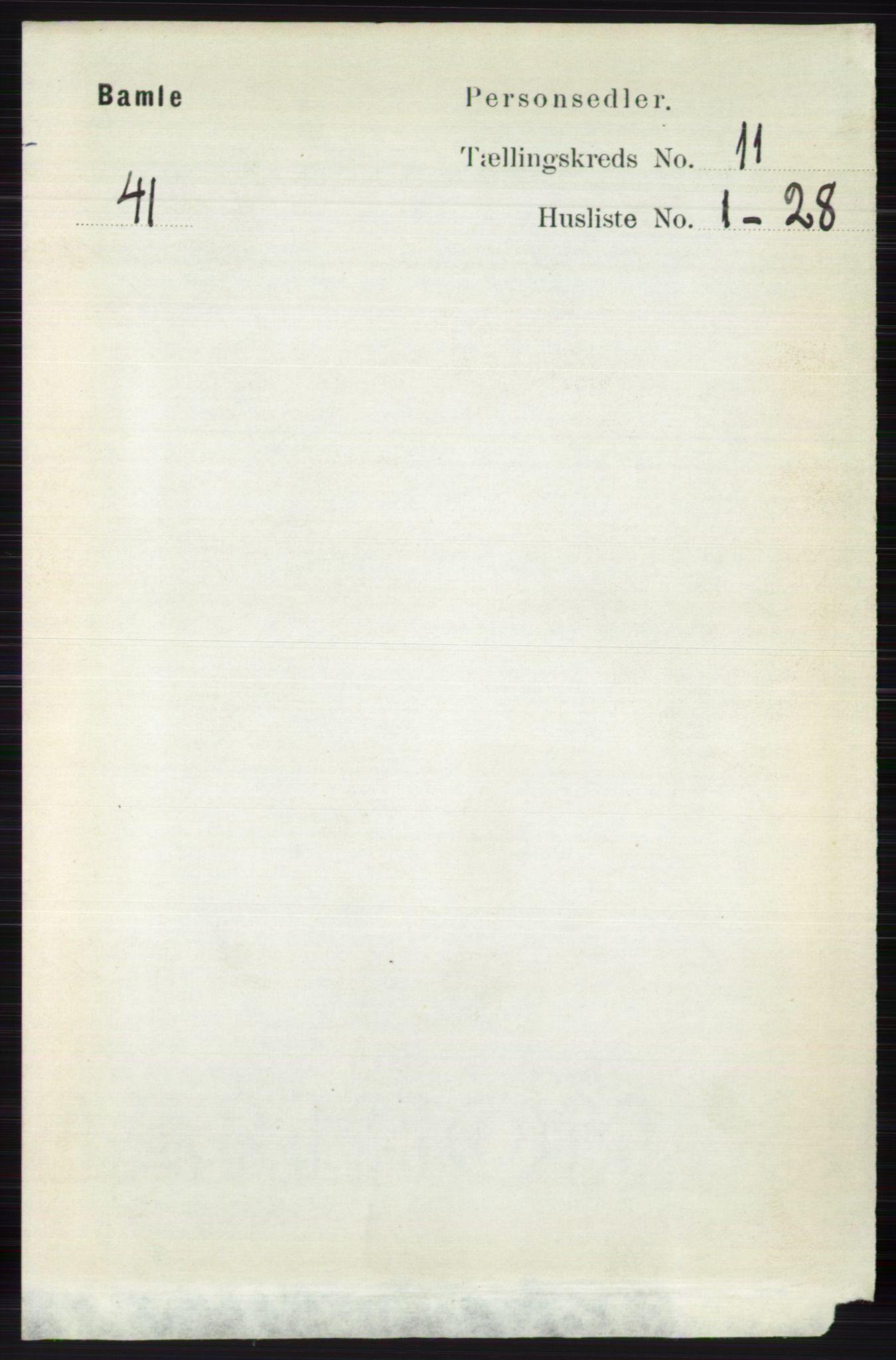 RA, Folketelling 1891 for 0814 Bamble herred, 1891, s. 6270