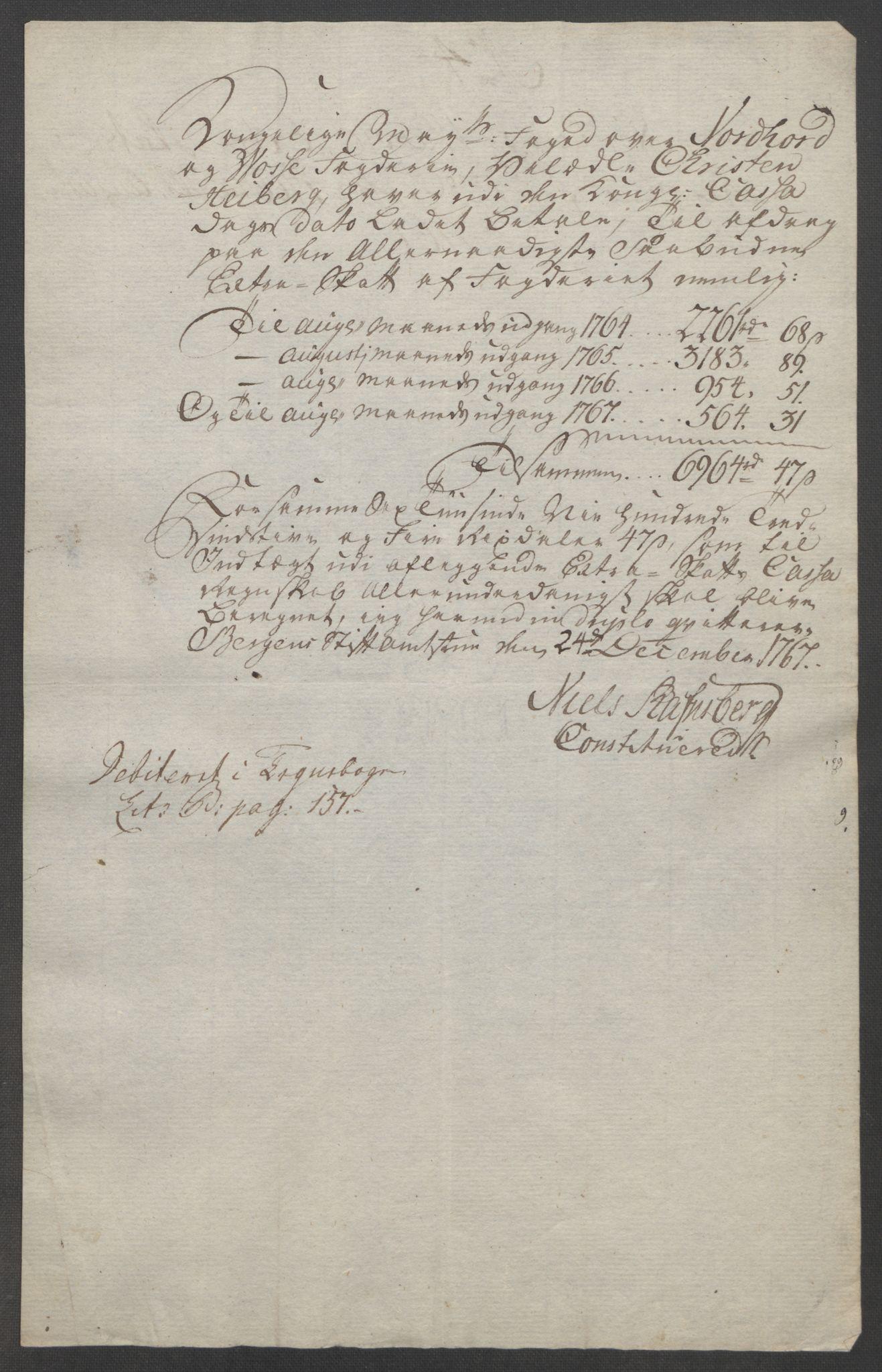 RA, Rentekammeret inntil 1814, Reviderte regnskaper, Fogderegnskap, R51/L3303: Ekstraskatten Nordhordland og Voss, 1762-1772, s. 159