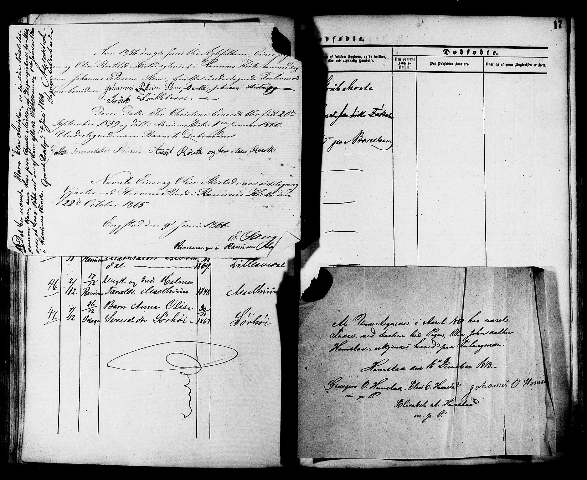 SAT, Ministerialprotokoller, klokkerbøker og fødselsregistre - Nord-Trøndelag, 764/L0553: Ministerialbok nr. 764A08, 1858-1880, s. 17