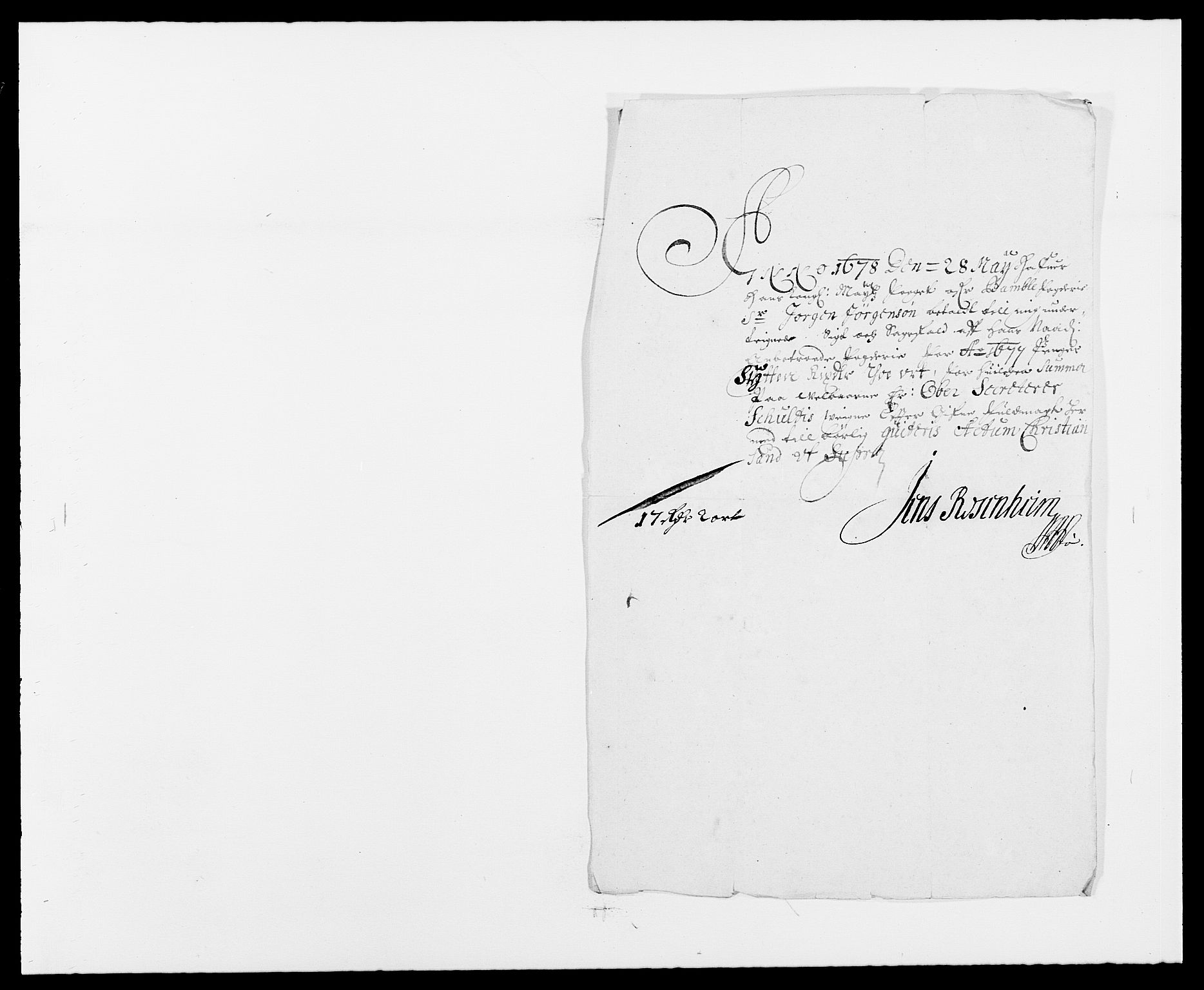 RA, Rentekammeret inntil 1814, Reviderte regnskaper, Fogderegnskap, R34/L2043: Fogderegnskap Bamble, 1676-1677, s. 458