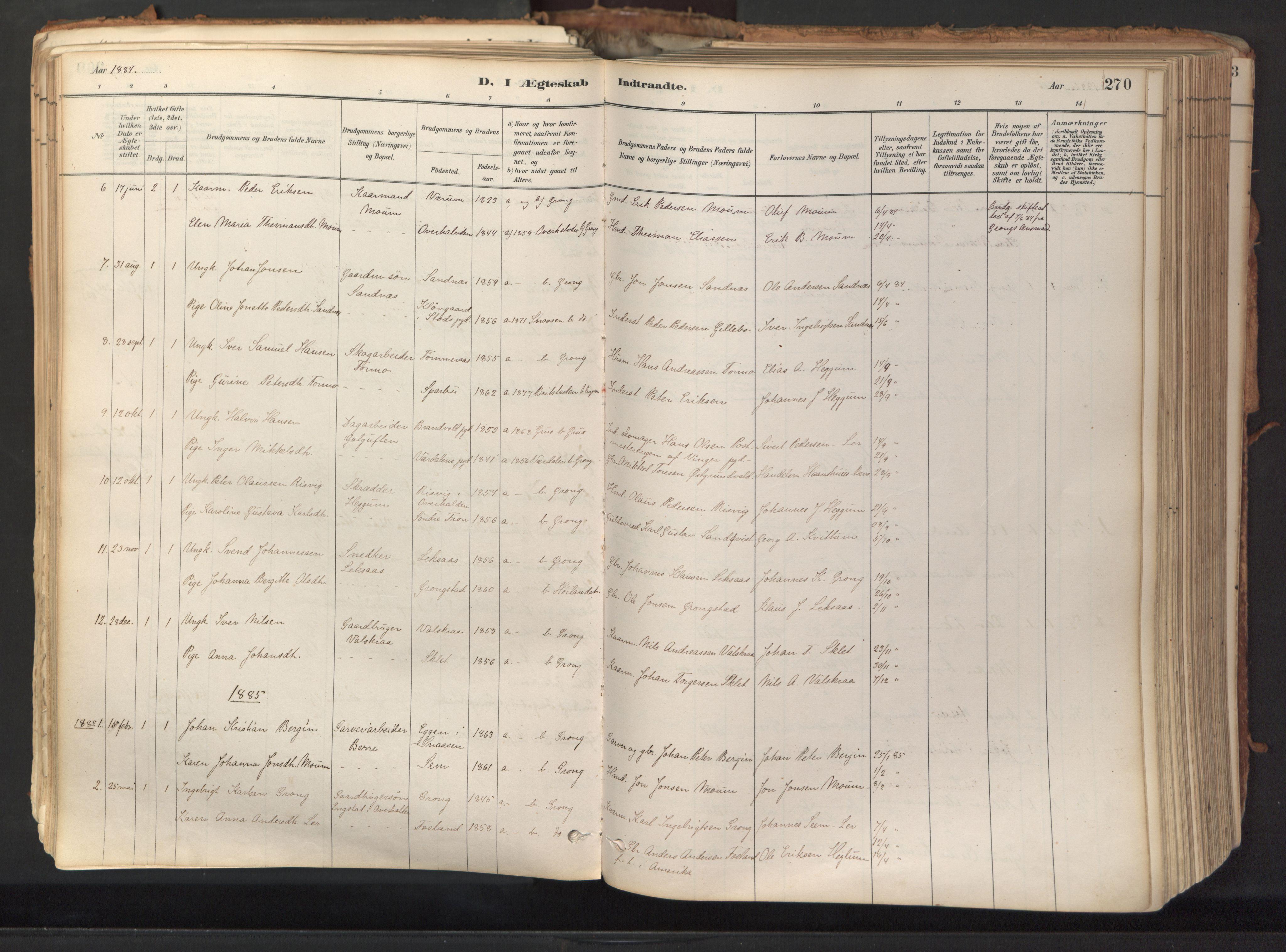 SAT, Ministerialprotokoller, klokkerbøker og fødselsregistre - Nord-Trøndelag, 758/L0519: Ministerialbok nr. 758A04, 1880-1926, s. 270