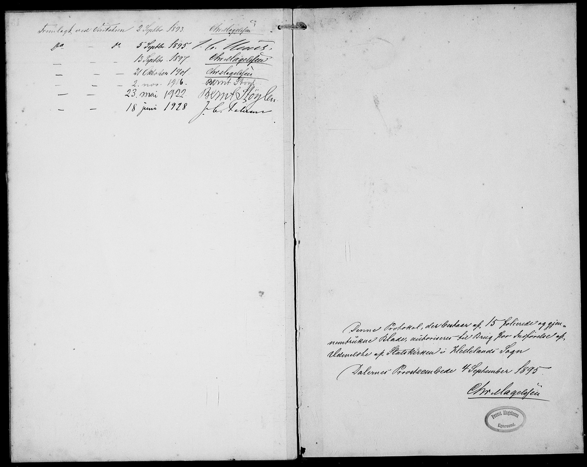 SAST, Helleland sokneprestkontor, Ministerialbok nr. A 10, 1892-1929, s. 12