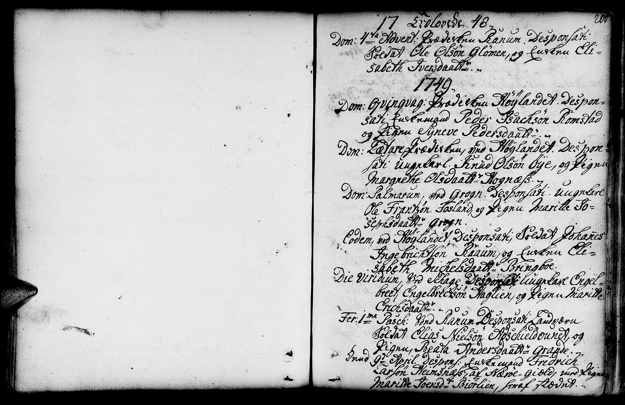 SAT, Ministerialprotokoller, klokkerbøker og fødselsregistre - Nord-Trøndelag, 764/L0542: Ministerialbok nr. 764A02, 1748-1779, s. 200