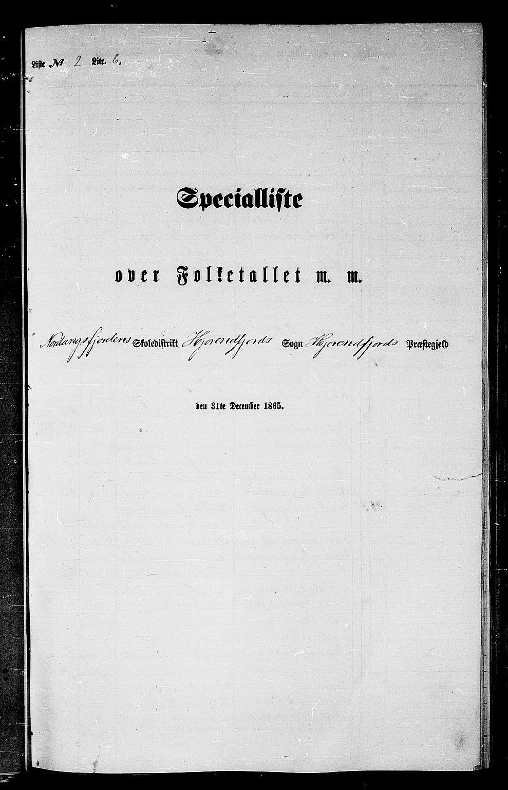 RA, Folketelling 1865 for 1522P Hjørundfjord prestegjeld, 1865, s. 34
