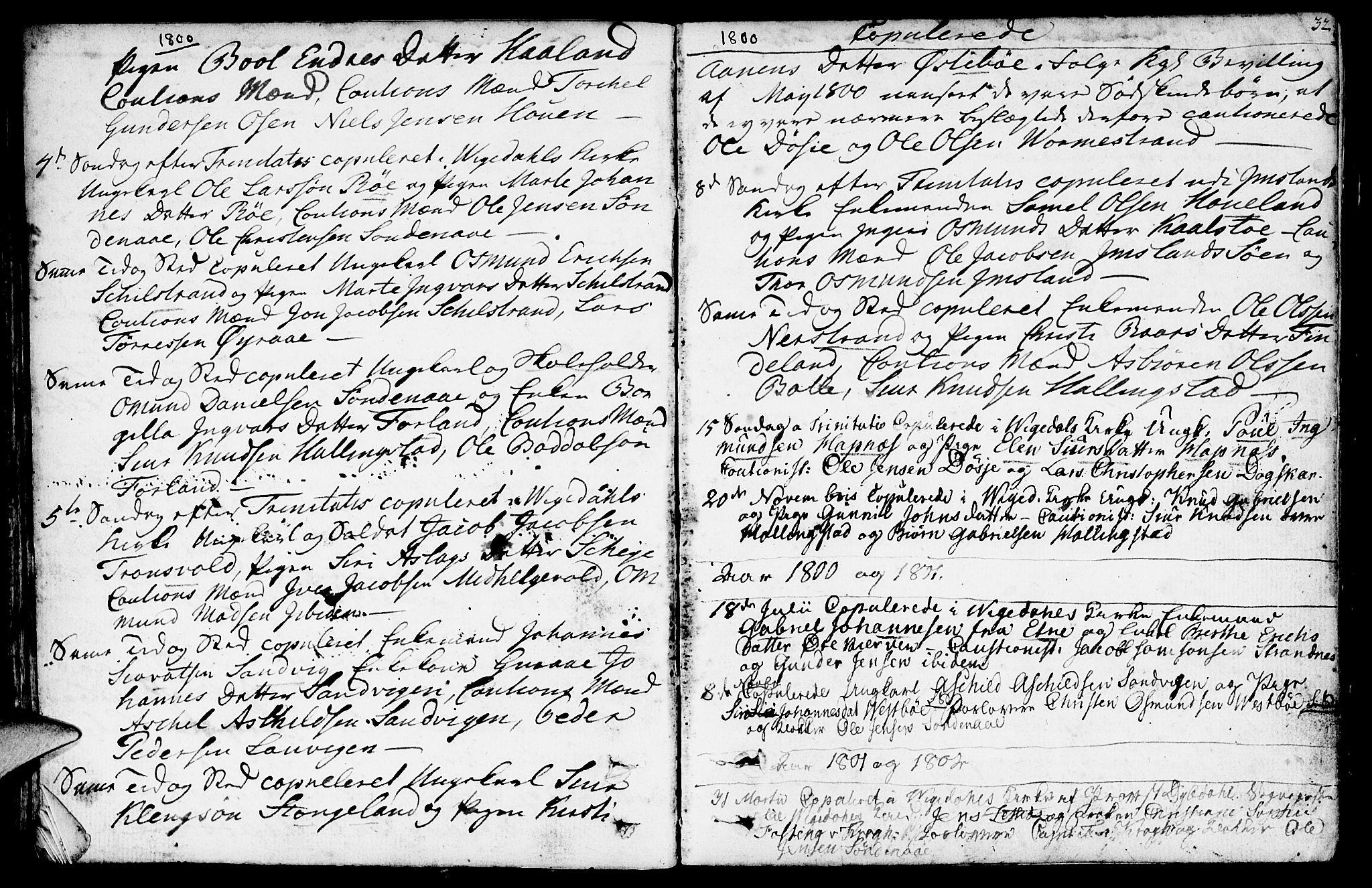 SAST, Vikedal sokneprestkontor, IV: Ministerialbok nr. A 2, 1779-1817, s. 32