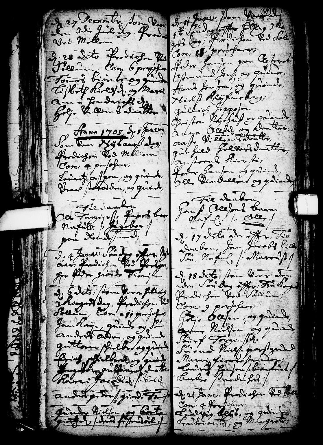 SAKO, Solum kirkebøker, F/Fa/L0001: Ministerialbok nr. I 1, 1701-1716, s. 69