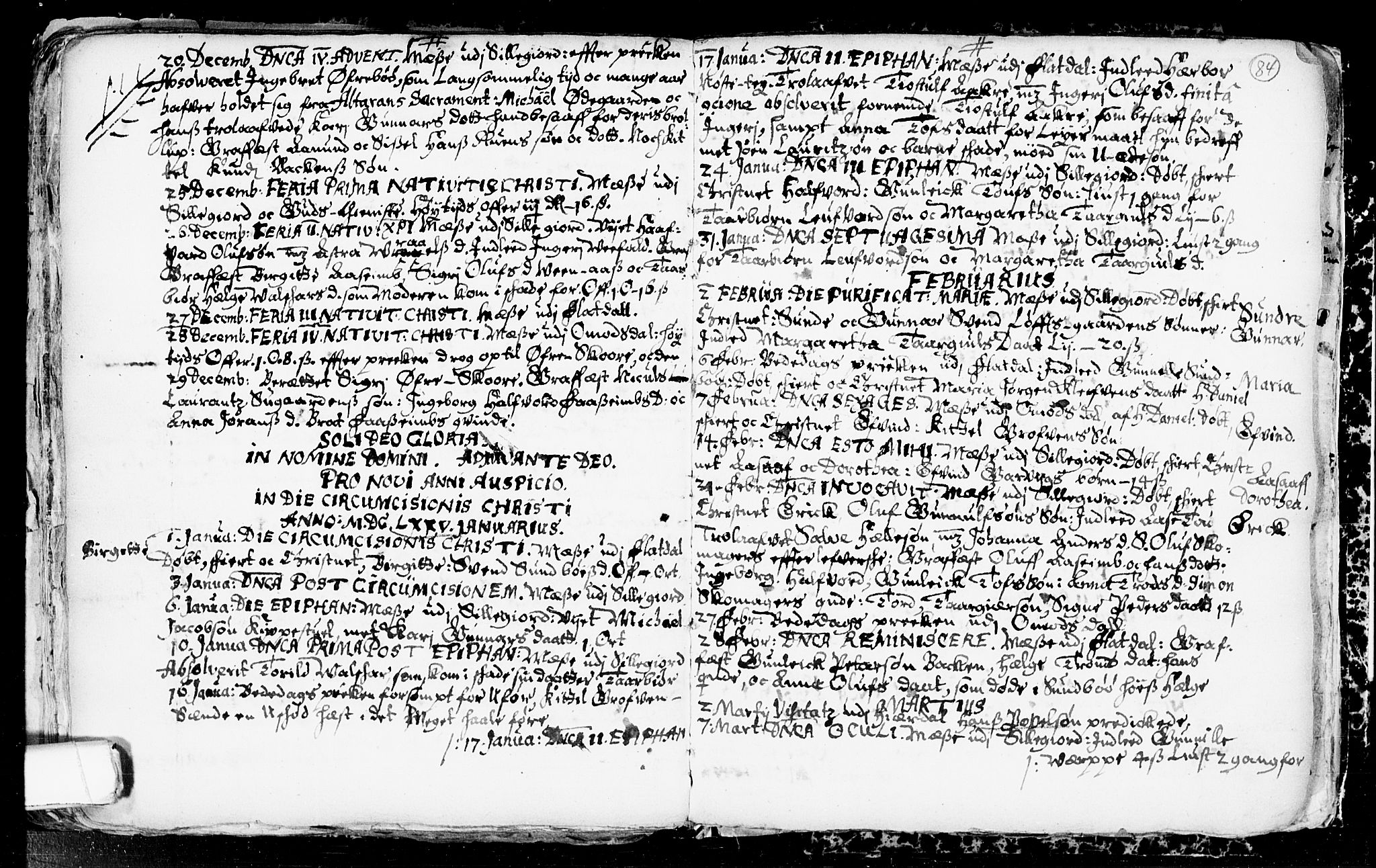 SAKO, Seljord kirkebøker, F/Fa/L0001: Ministerialbok nr. I 1, 1654-1686, s. 84