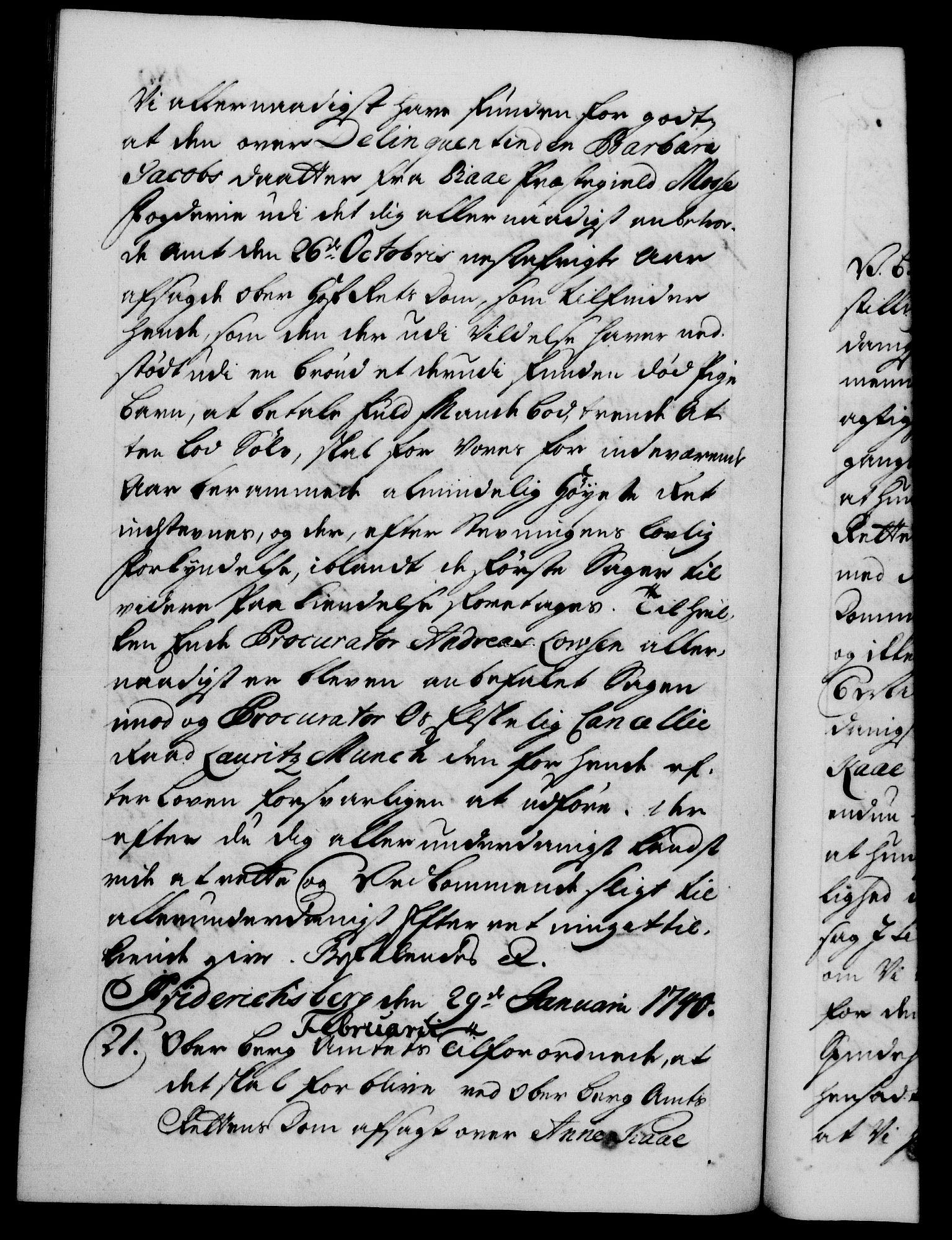 RA, Danske Kanselli 1572-1799, F/Fc/Fca/Fcab/L0028: Norske tegnelser, 1738-1740, s. 489b