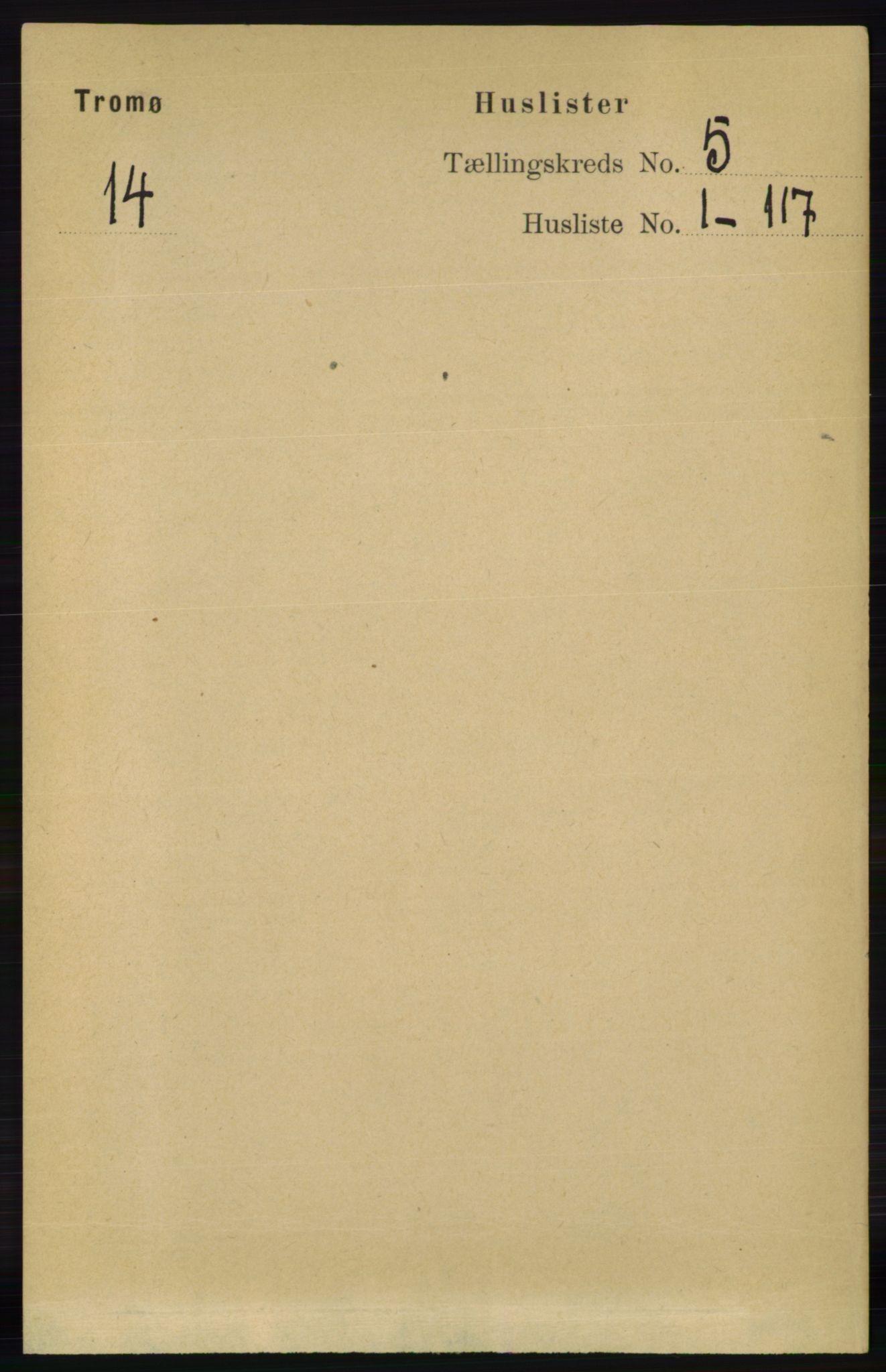 RA, Folketelling 1891 for 0921 Tromøy herred, 1891, s. 2070