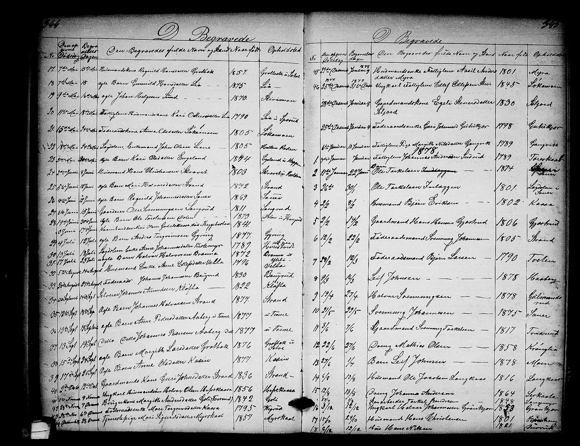SAKO, Heddal kirkebøker, G/Ga/L0001: Klokkerbok nr. I 1, 1866-1878, s. 344-345