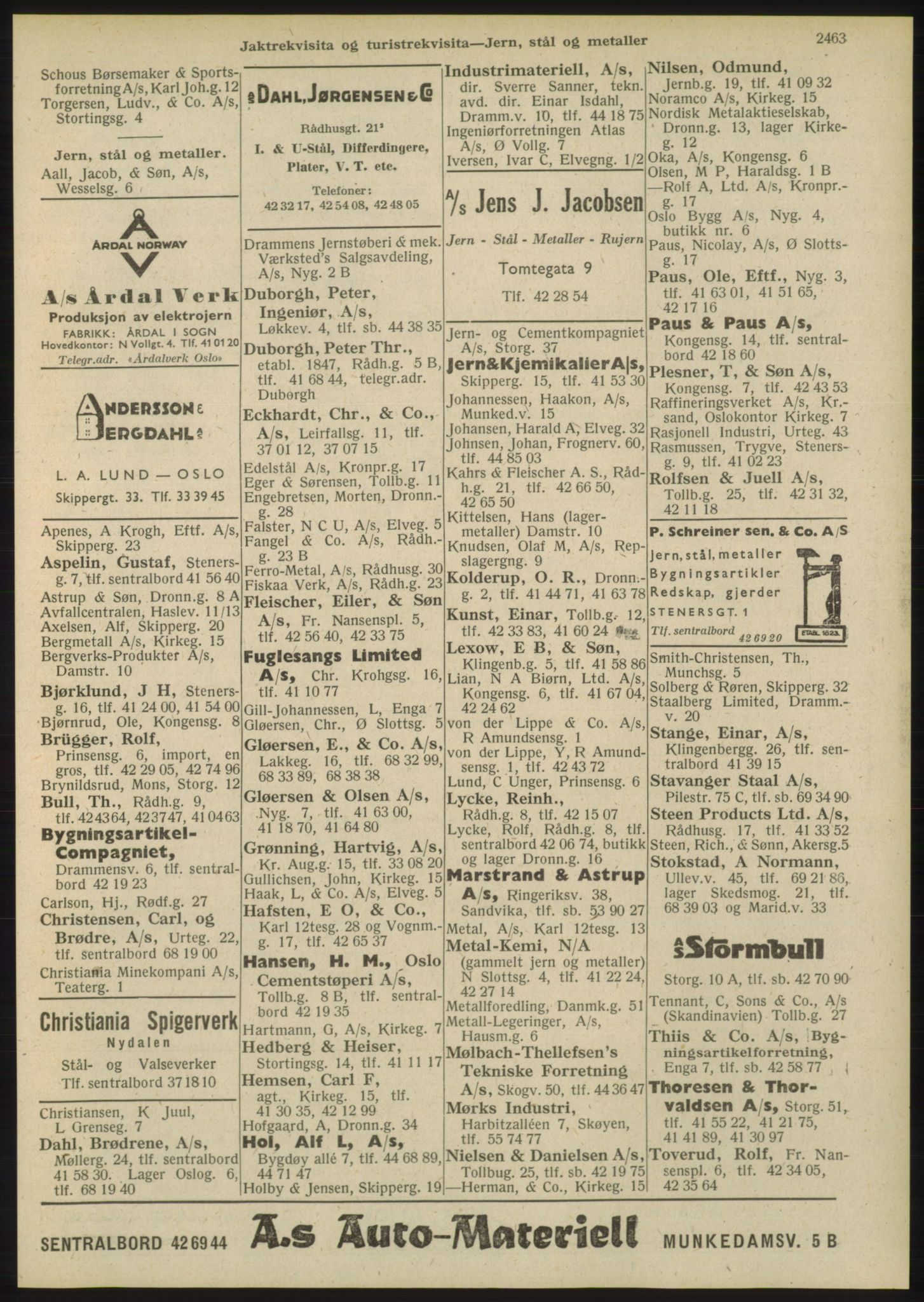 PUBL, Kristiania/Oslo adressebok, 1948, s. 2463