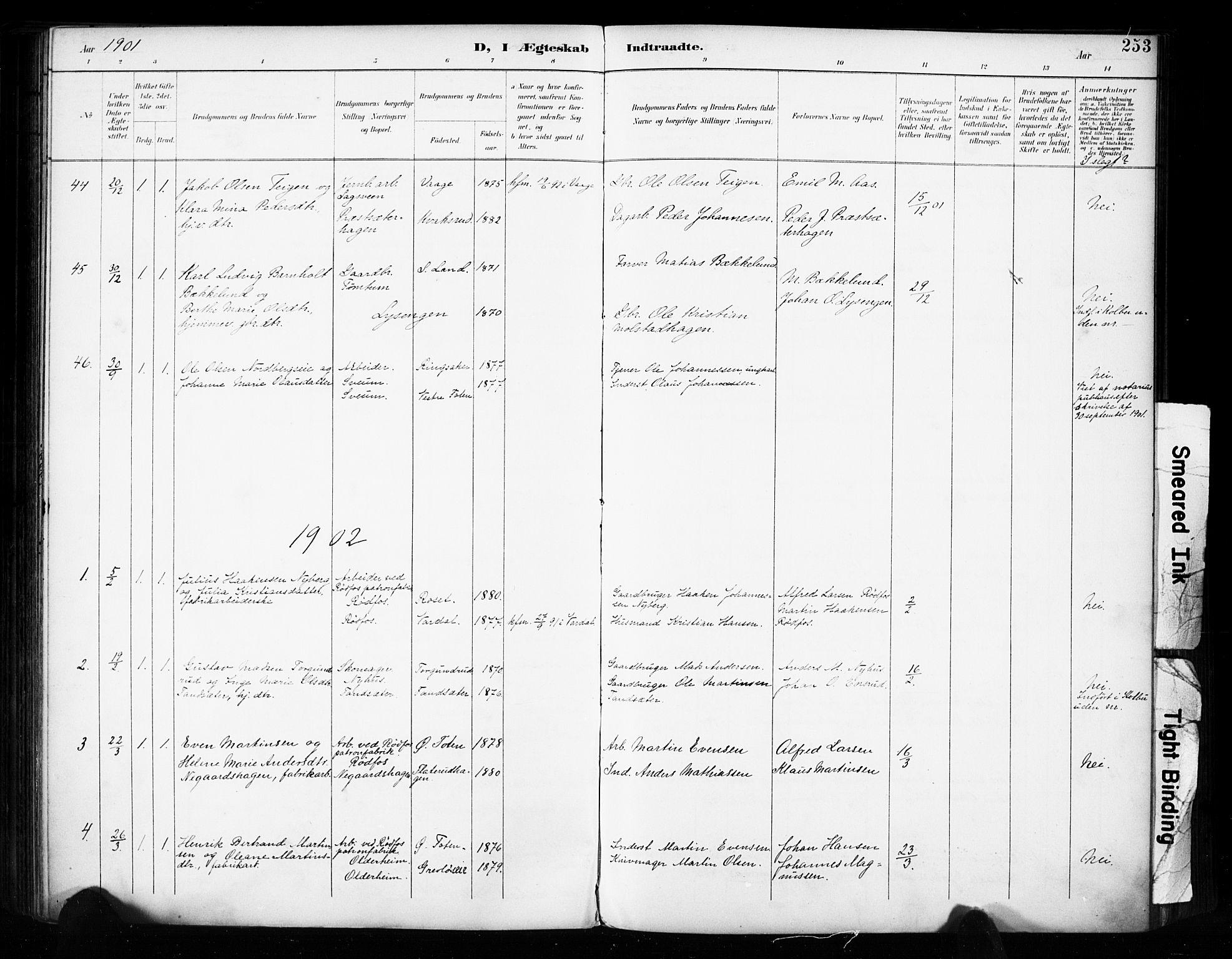 SAH, Vestre Toten prestekontor, H/Ha/Haa/L0011: Ministerialbok nr. 11, 1895-1906, s. 253