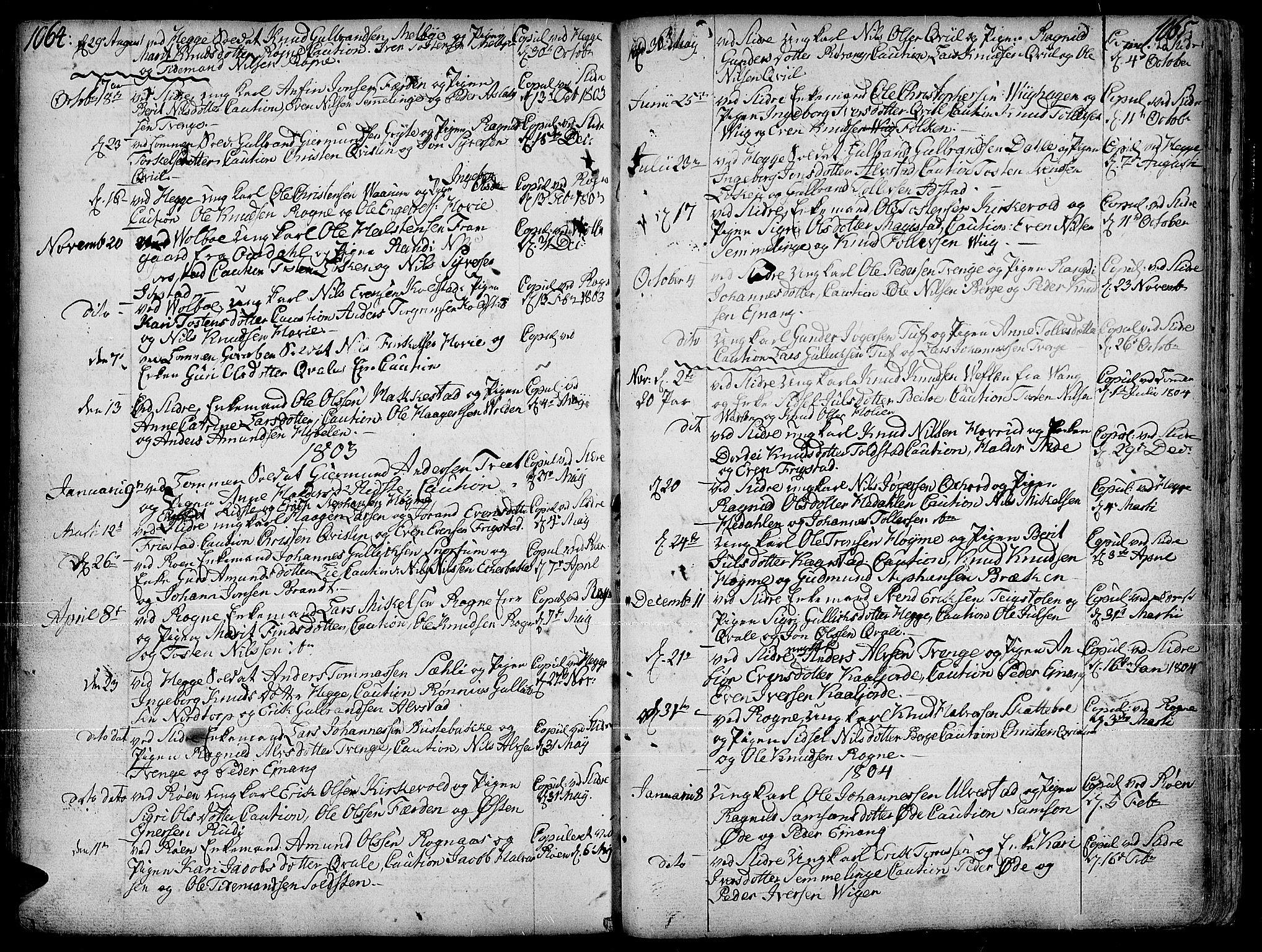 SAH, Slidre prestekontor, Ministerialbok nr. 1, 1724-1814, s. 1064-1065