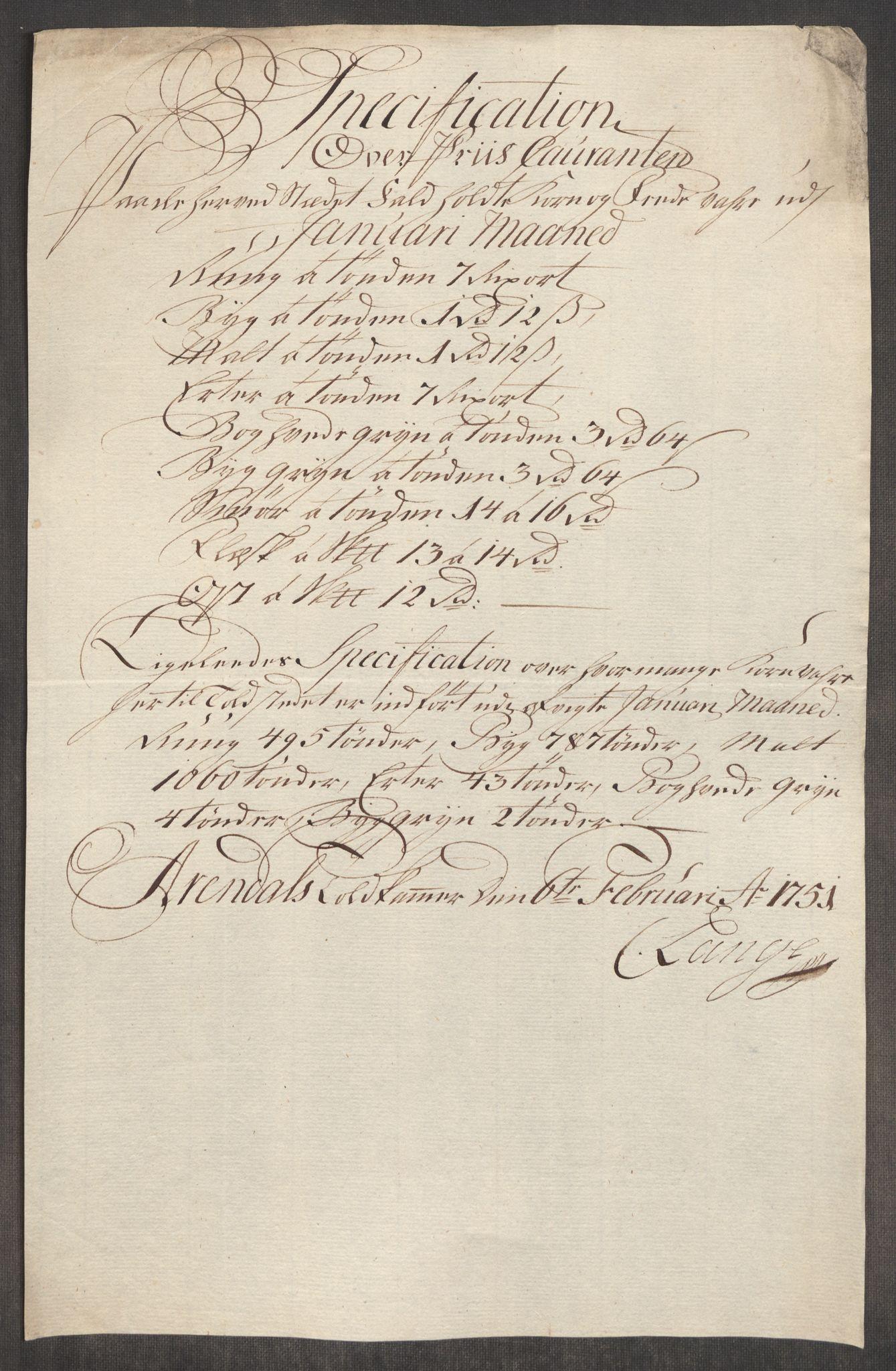 RA, Rentekammeret inntil 1814, Realistisk ordnet avdeling, Oe/L0004: [Ø1]: Priskuranter, 1749-1752, s. 671