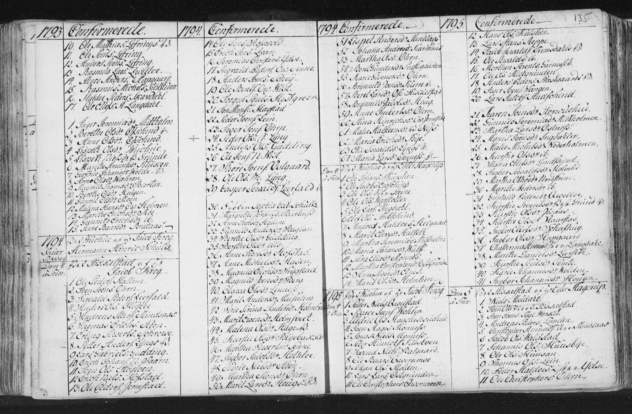 SAT, Ministerialprotokoller, klokkerbøker og fødselsregistre - Nord-Trøndelag, 723/L0232: Ministerialbok nr. 723A03, 1781-1804, s. 135