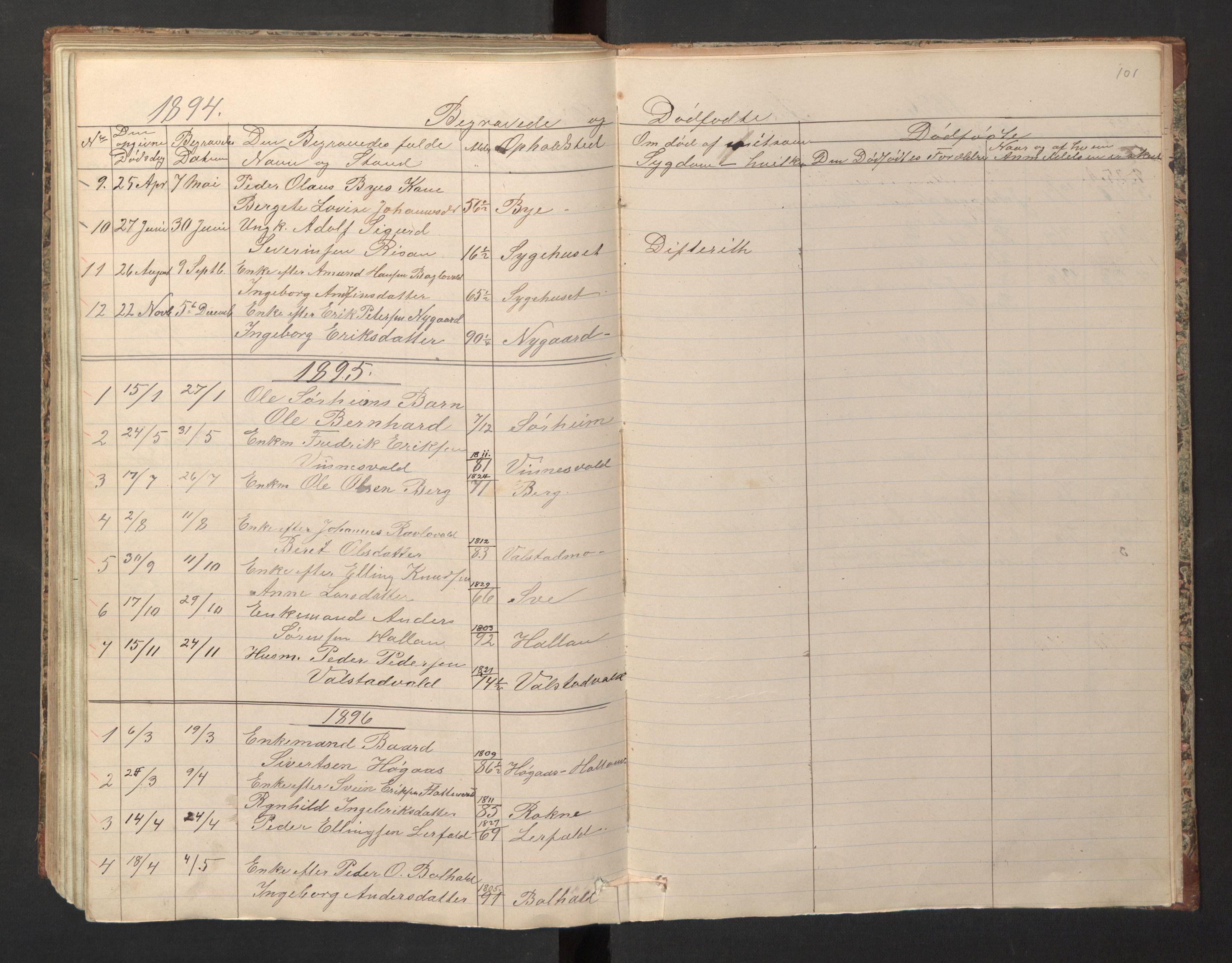 SAT, Ministerialprotokoller, klokkerbøker og fødselsregistre - Nord-Trøndelag, 726/L0271: Klokkerbok nr. 726C02, 1869-1897, s. 101