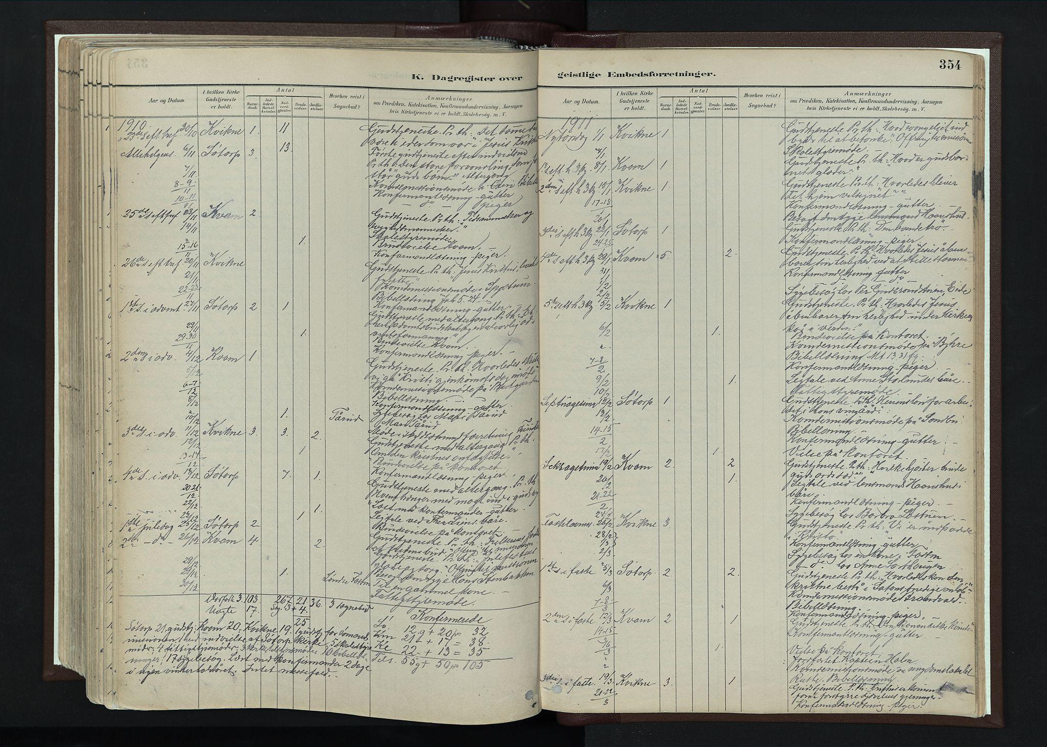 SAH, Nord-Fron prestekontor, Ministerialbok nr. 4, 1884-1914, s. 354