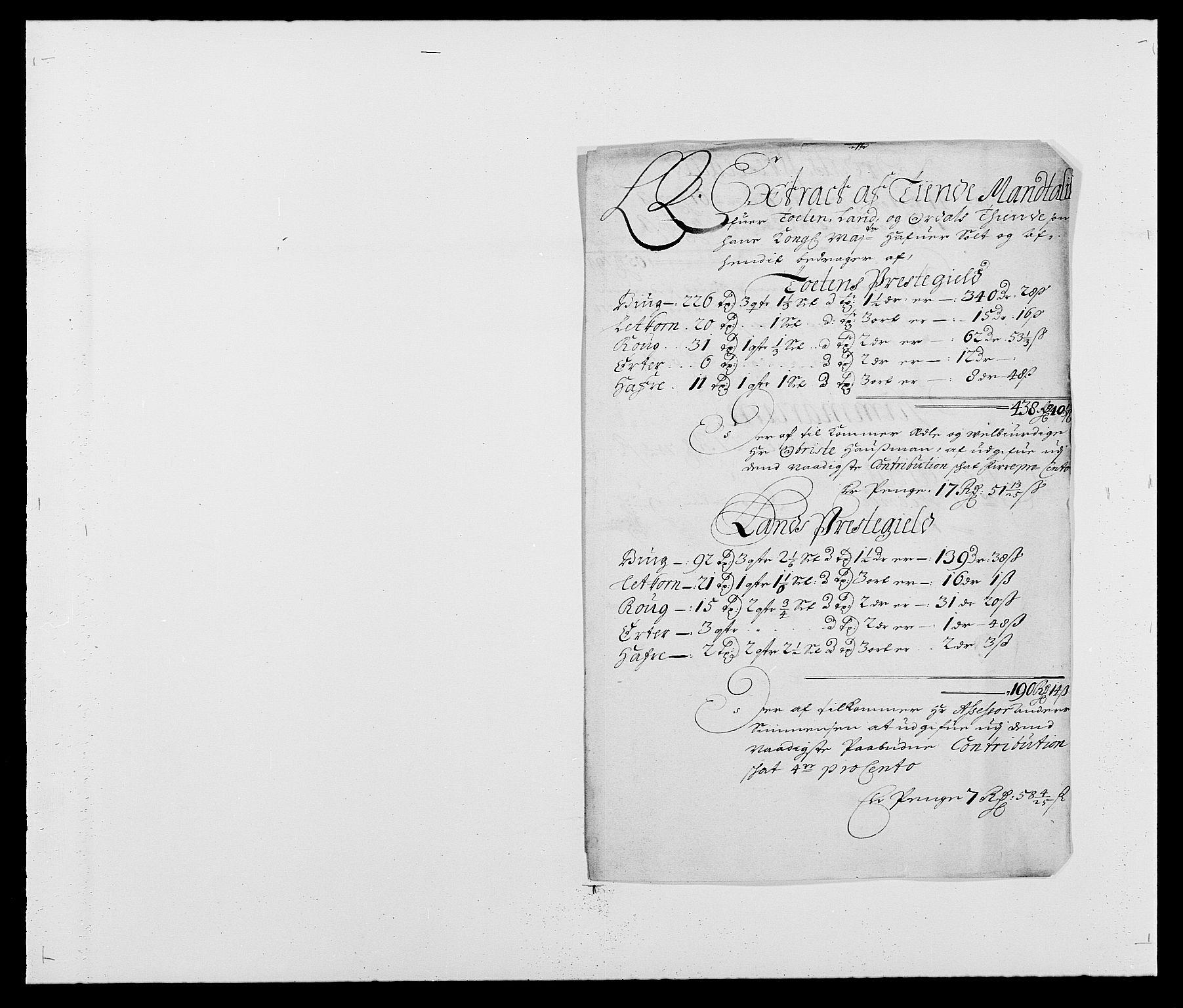 RA, Rentekammeret inntil 1814, Reviderte regnskaper, Fogderegnskap, R18/L1285: Fogderegnskap Hadeland, Toten og Valdres, 1686, s. 196