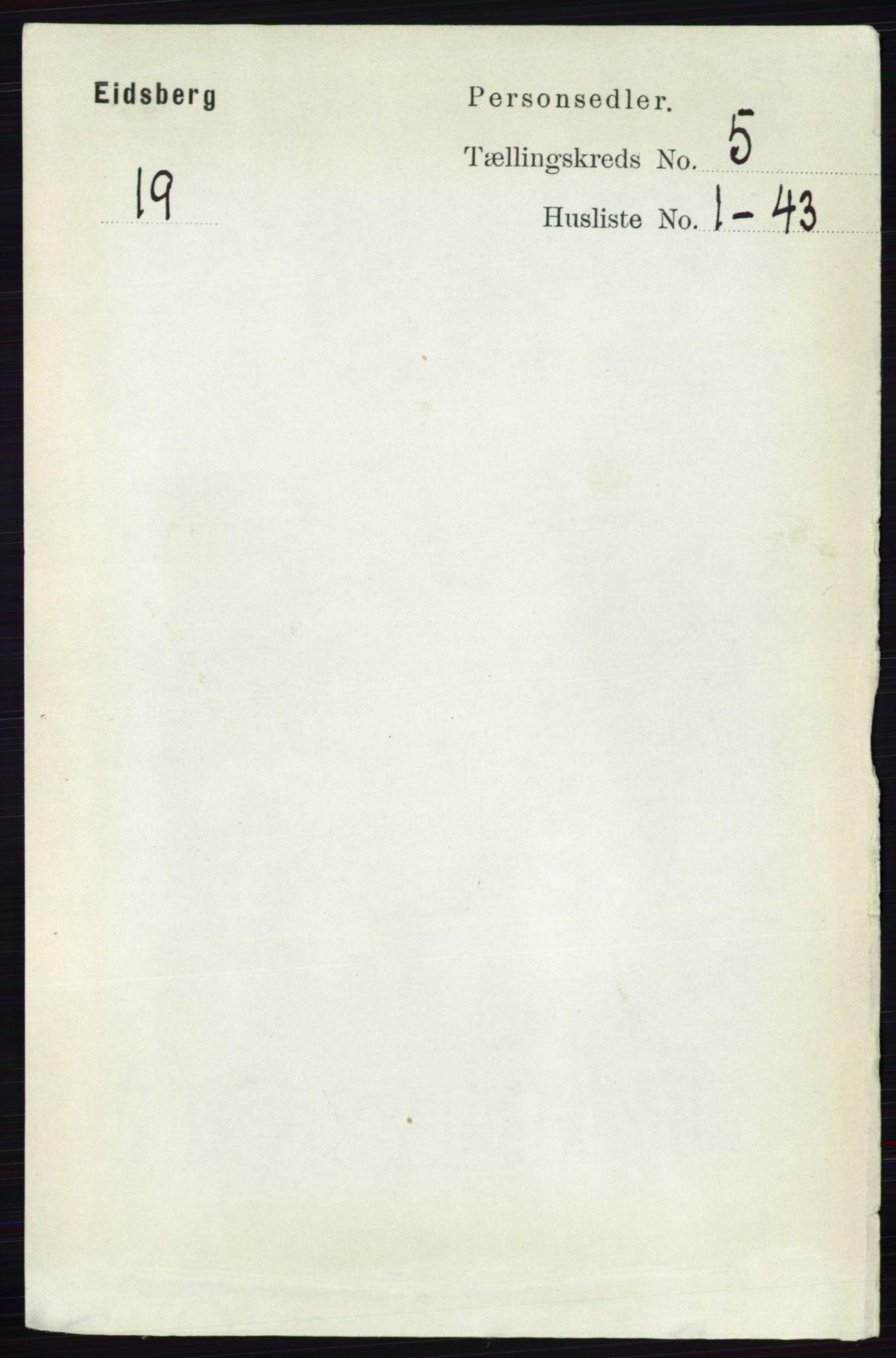 RA, Folketelling 1891 for 0125 Eidsberg herred, 1891, s. 3016